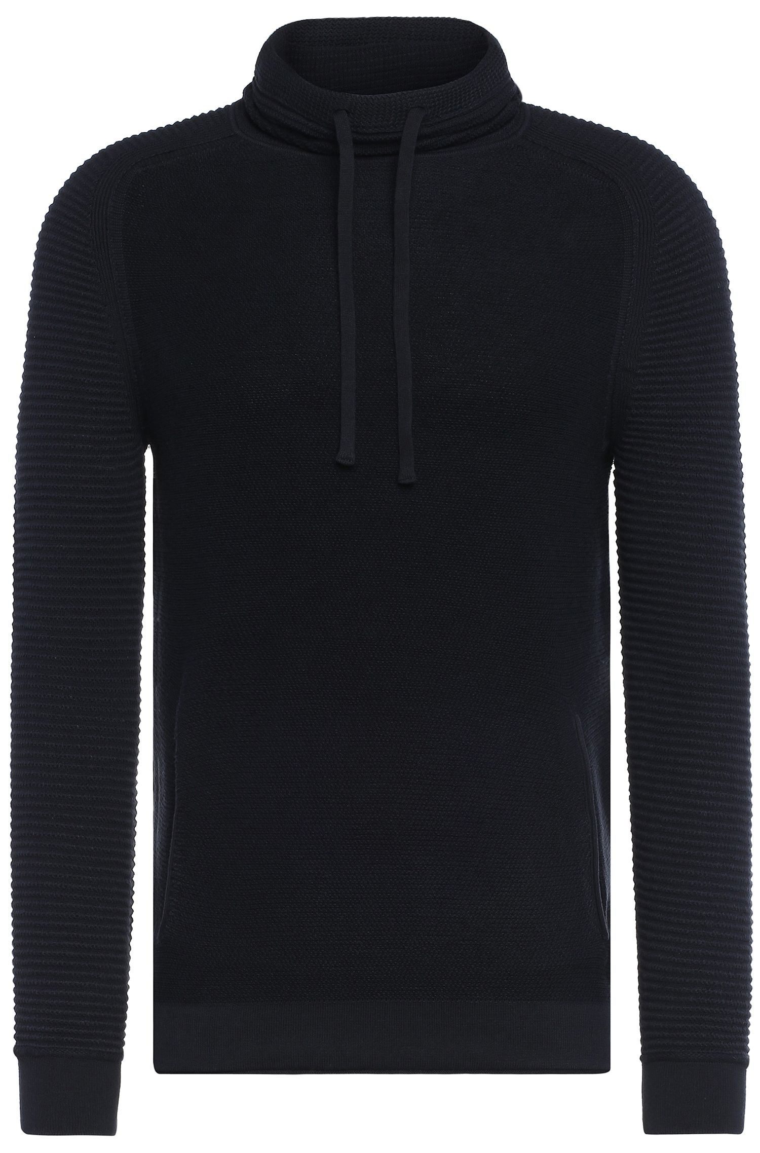 'Keno' | Stretch Cotton Funnel Neck Sweater