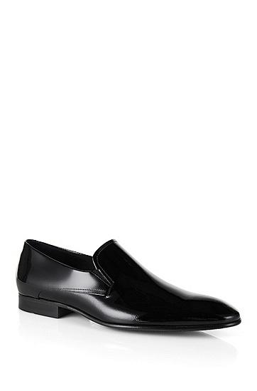'Eveslip' | Italian Calfskin Patent Loafers, Black