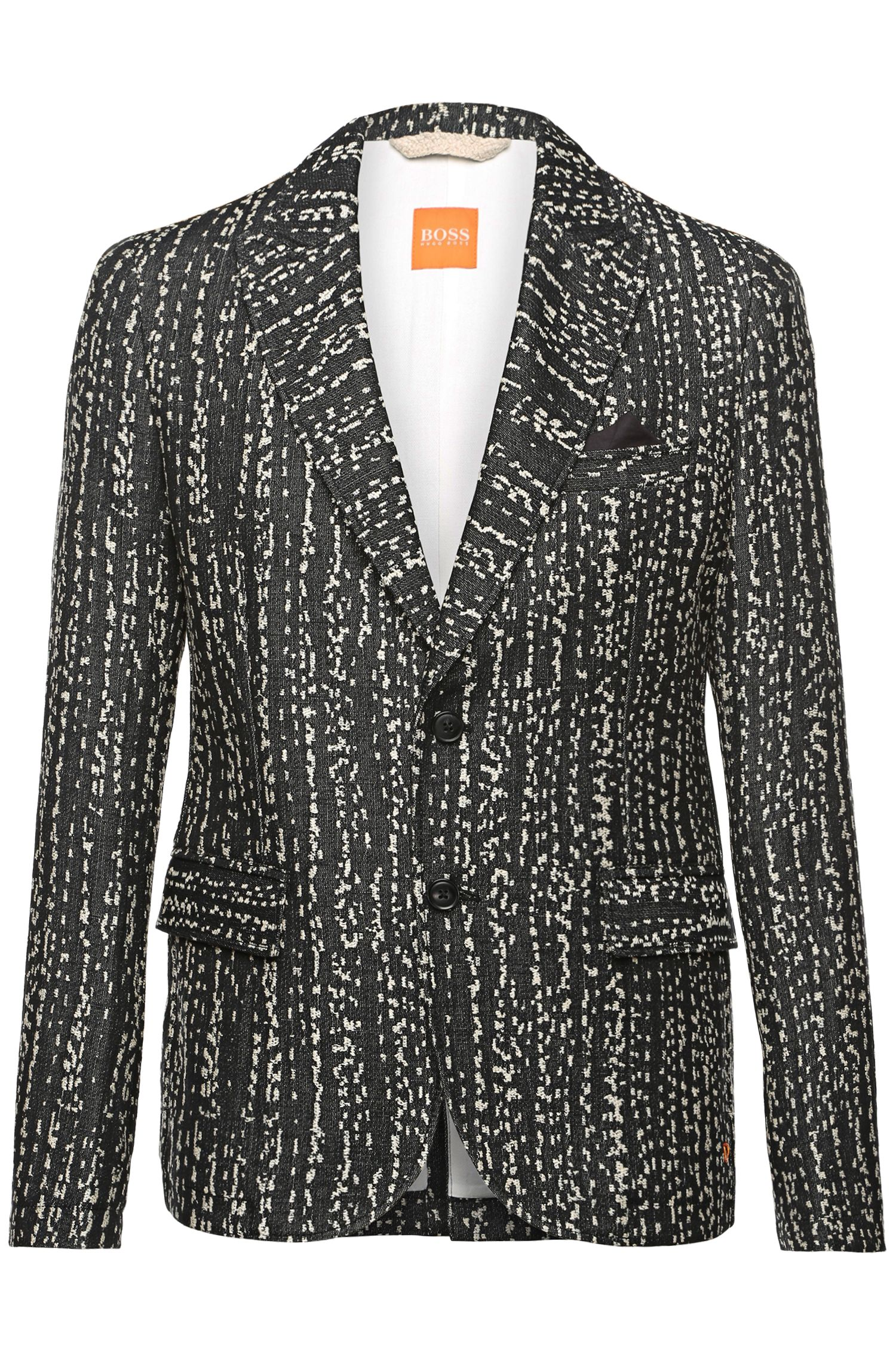 'Baze_H-W'   Slim Fit, Cotton Linen Embroidered Sport Coat