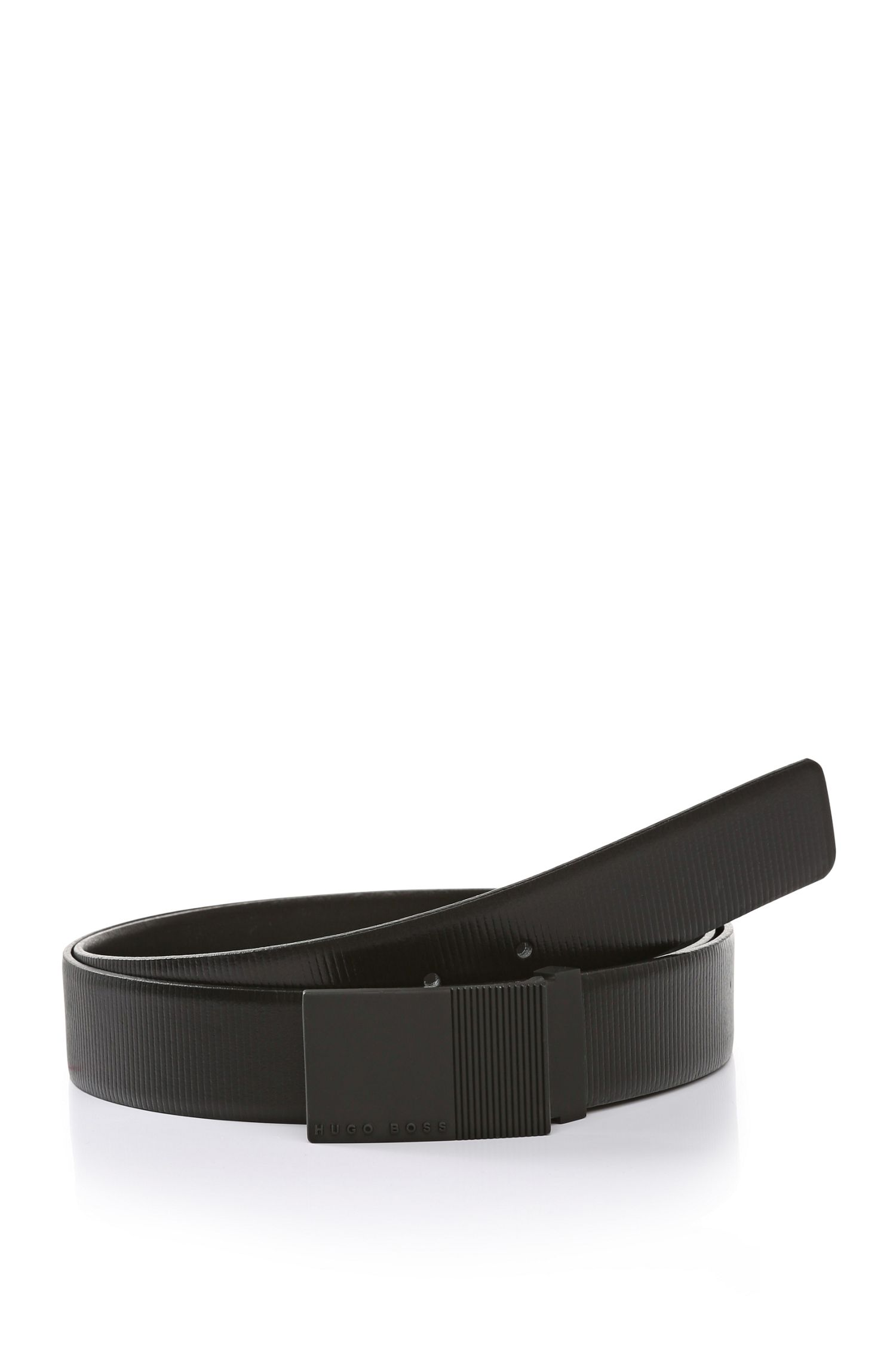 'Torres' | Striated Leather Belt
