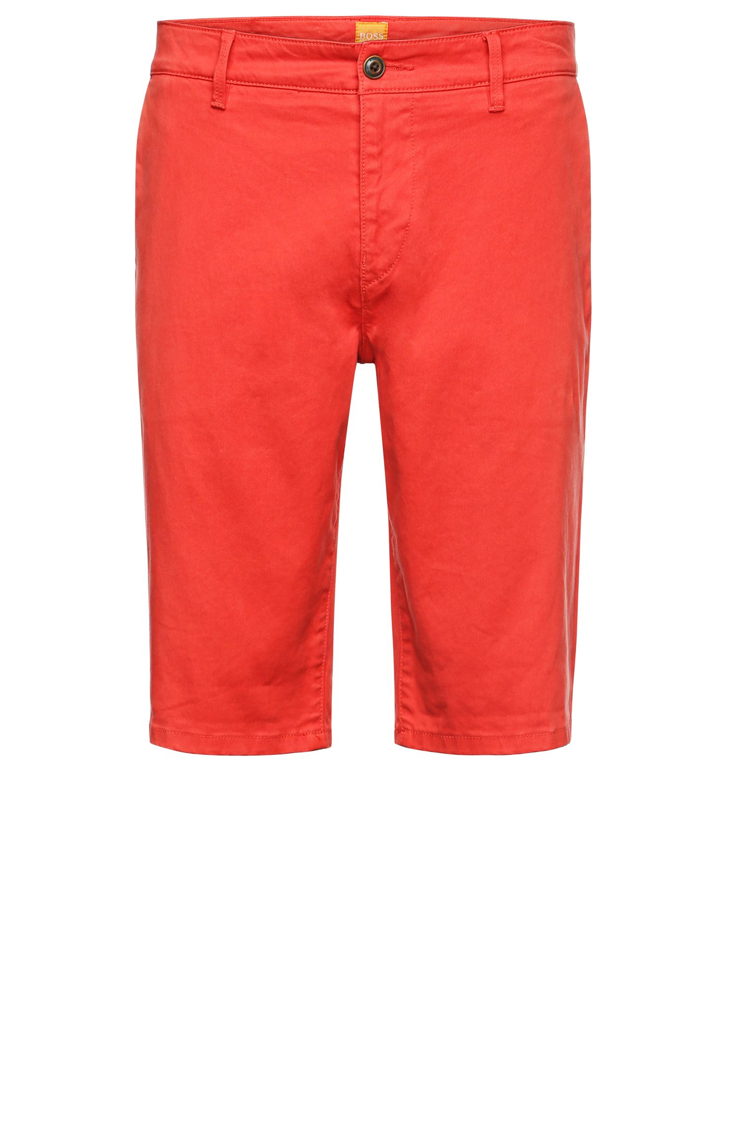 'Schino-Slim-Shorts-D' | Slim Fit, Stretch Cotton Chino Shorts