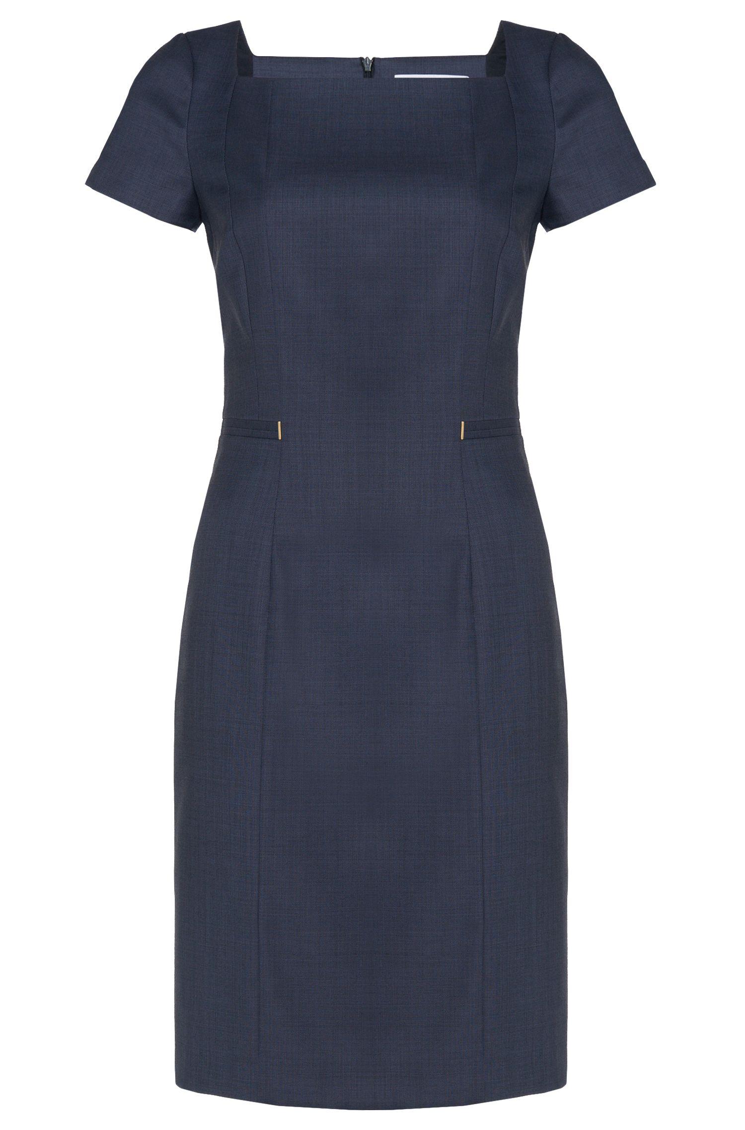 'Dasoni' | Stretch Virgin Wool Blend Sheath Dress