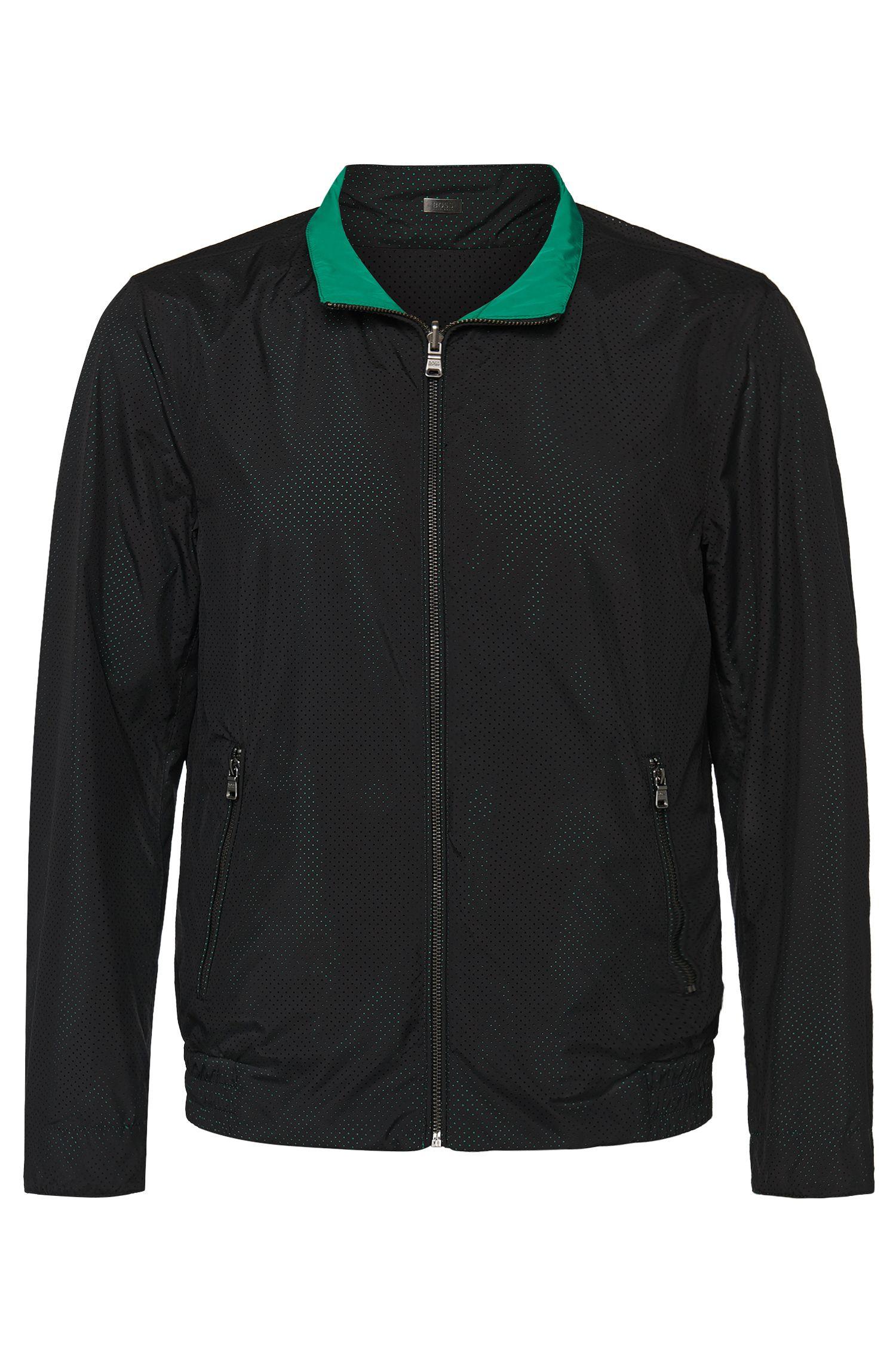 'Ciran' | Reversible Solid, Mesh Jacket