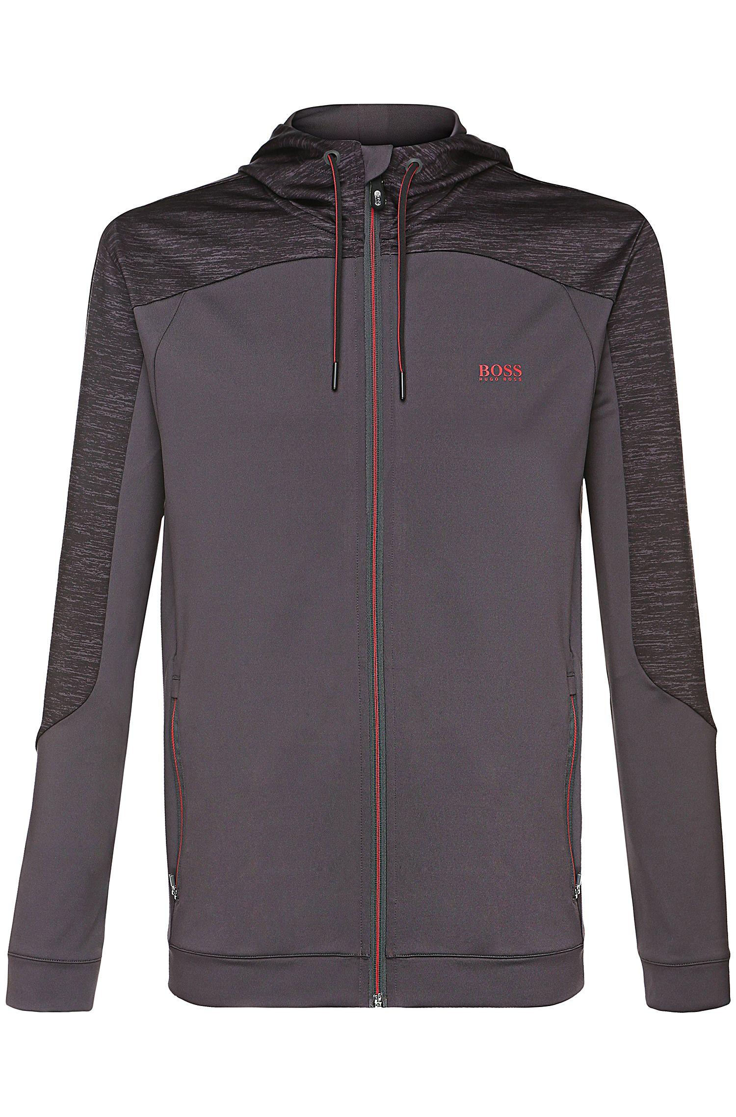 'Saggytech' | Stretch Tech Jersey Hooded Jacket