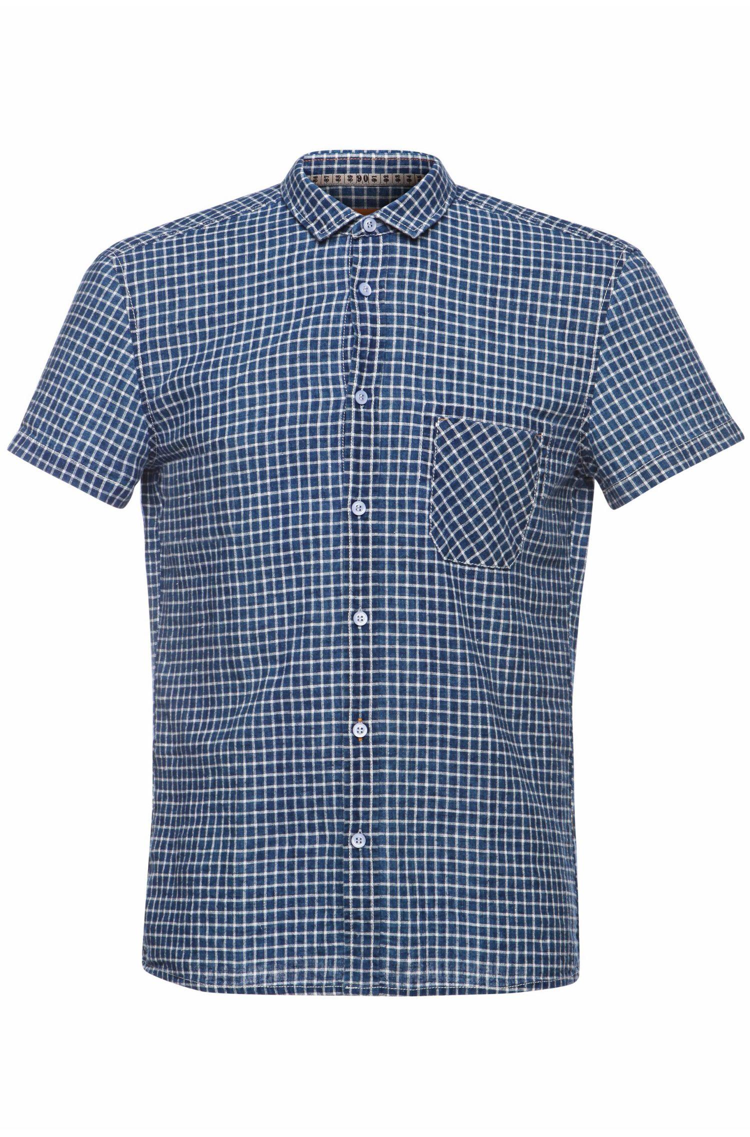 'EzippoE' | Regular Fit, Linen Cotton Button Down Shirt