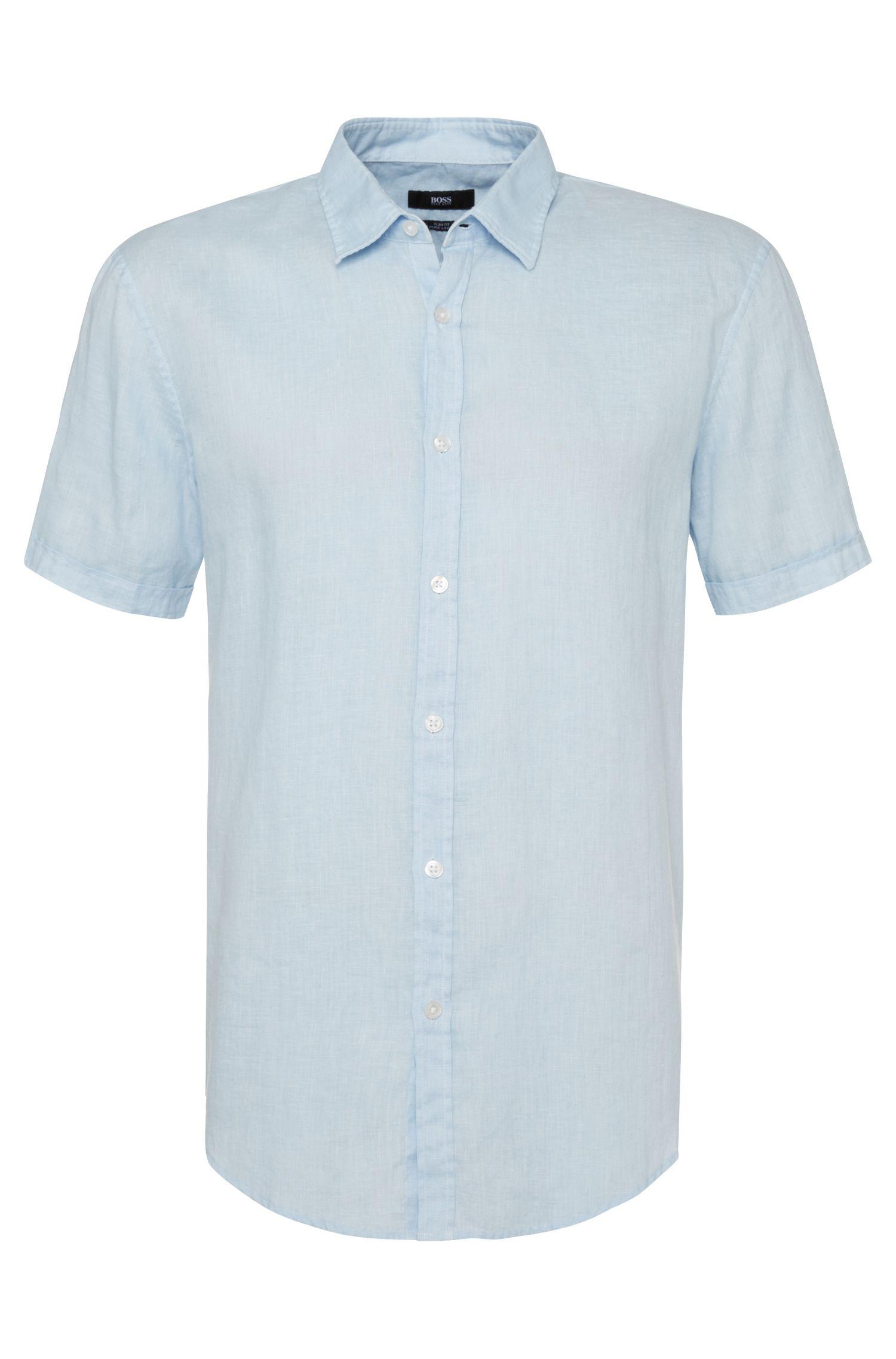 'Ronn' | Slim Fit, Linen Button Down Shirt