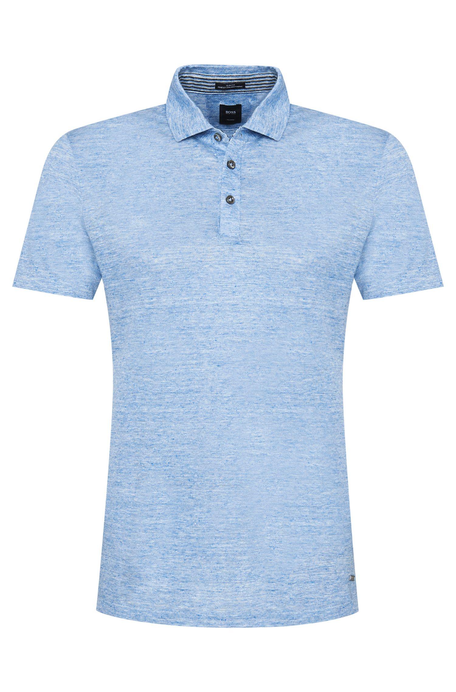 'T-Pryde' | Slim Fit, Italian Linen Polo Shirt
