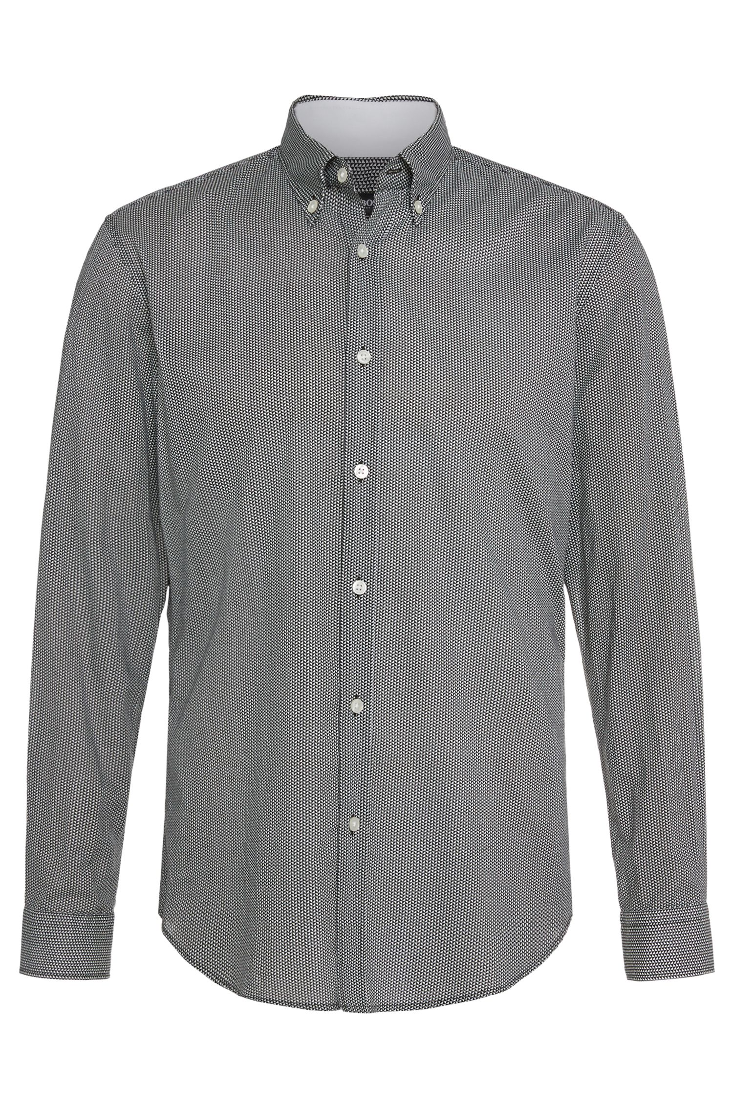 'Rod' | Slim Fit, Cotton Geo Print Button Down Shirt