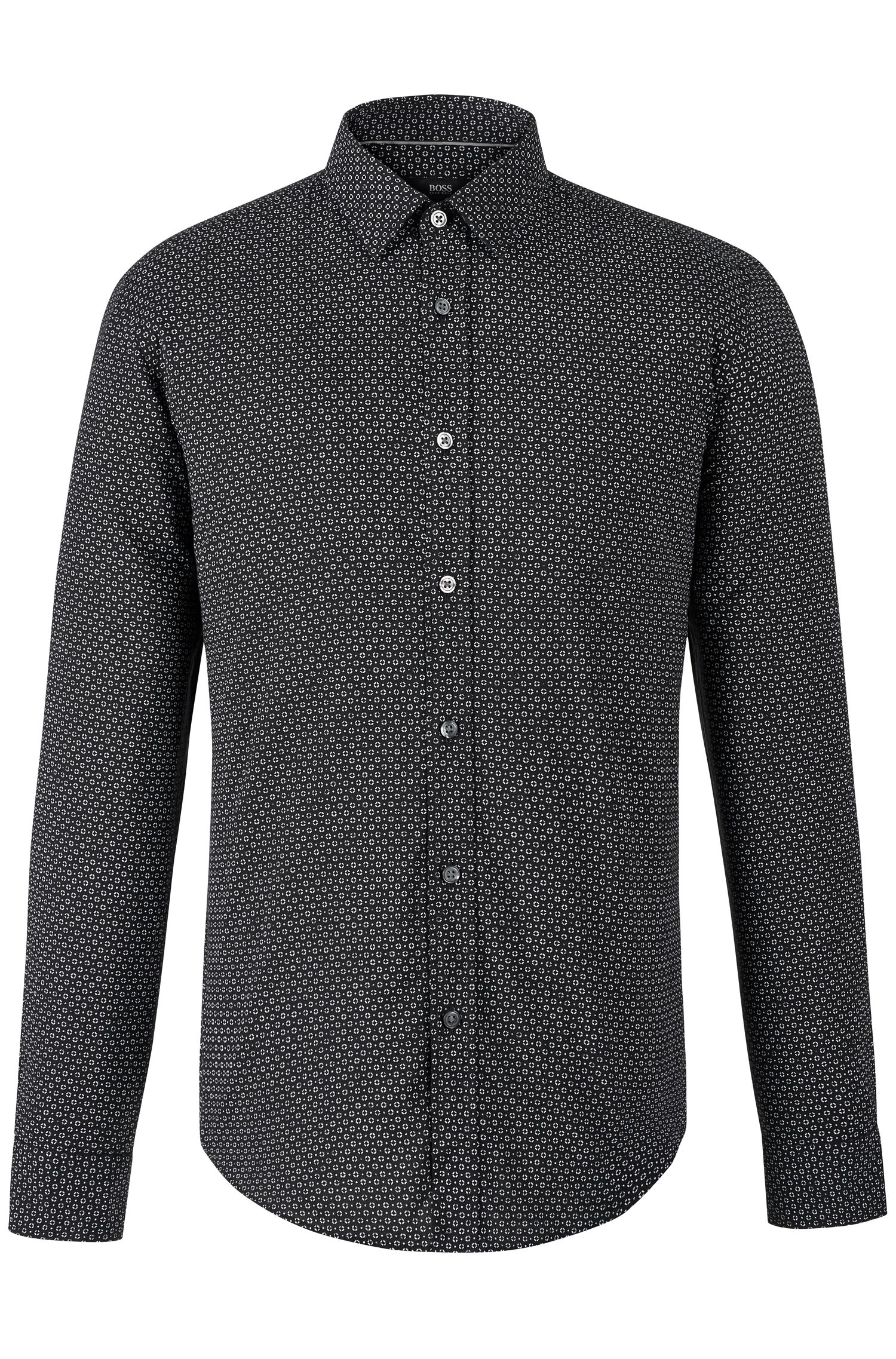 'Ronni' | Slim Fit, Cotton Patterned Button Down Shirt