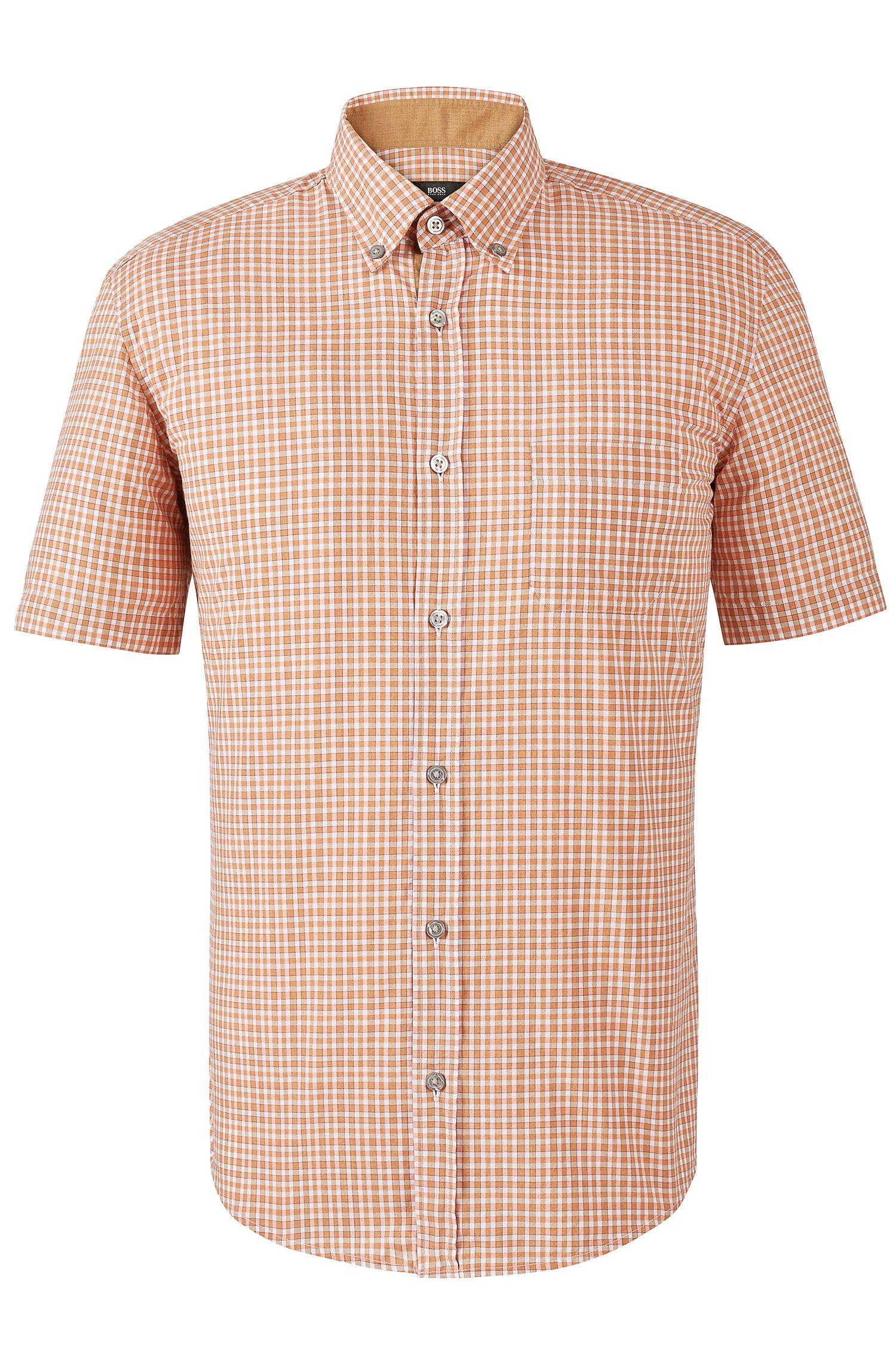 'Roddy P'   Slim Fit, Cotton Short Sleeve Button Down Shirt