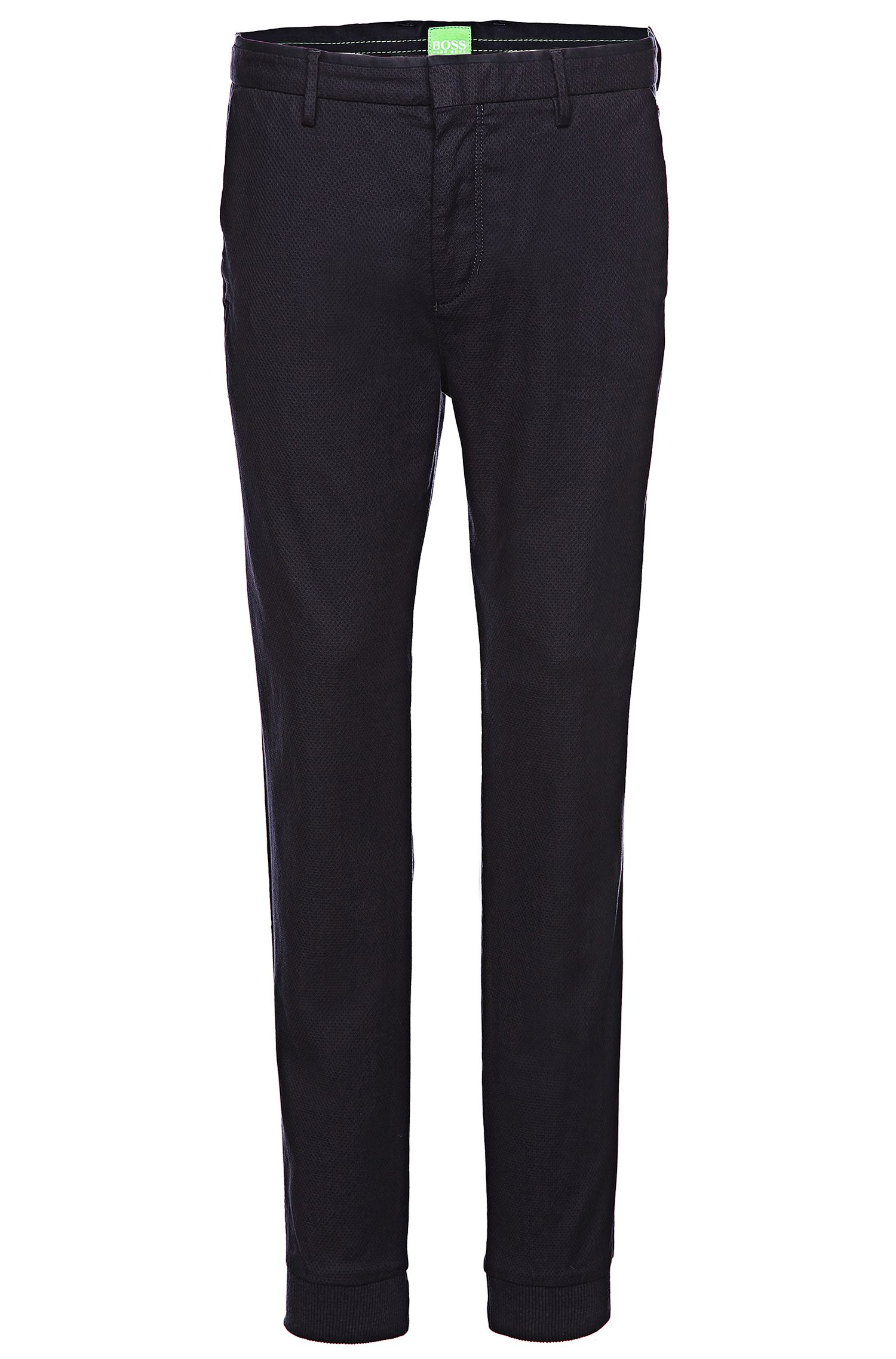 'Loomes-W' | Slim Fit, Stretch Cotton Textured Chinos