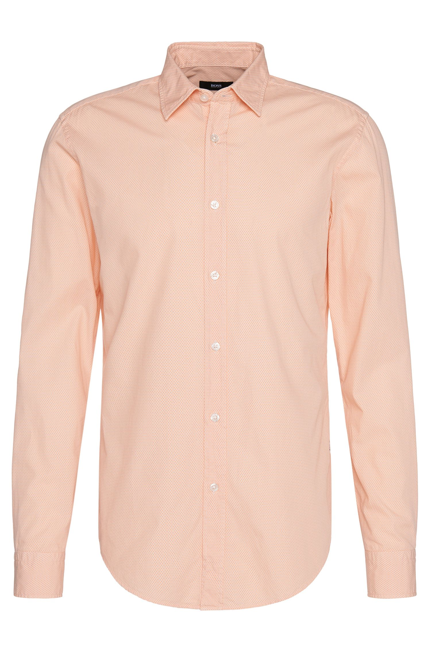 'Ronni' | Slim Fit, Italain Cotton Patterned Button Down Shirt