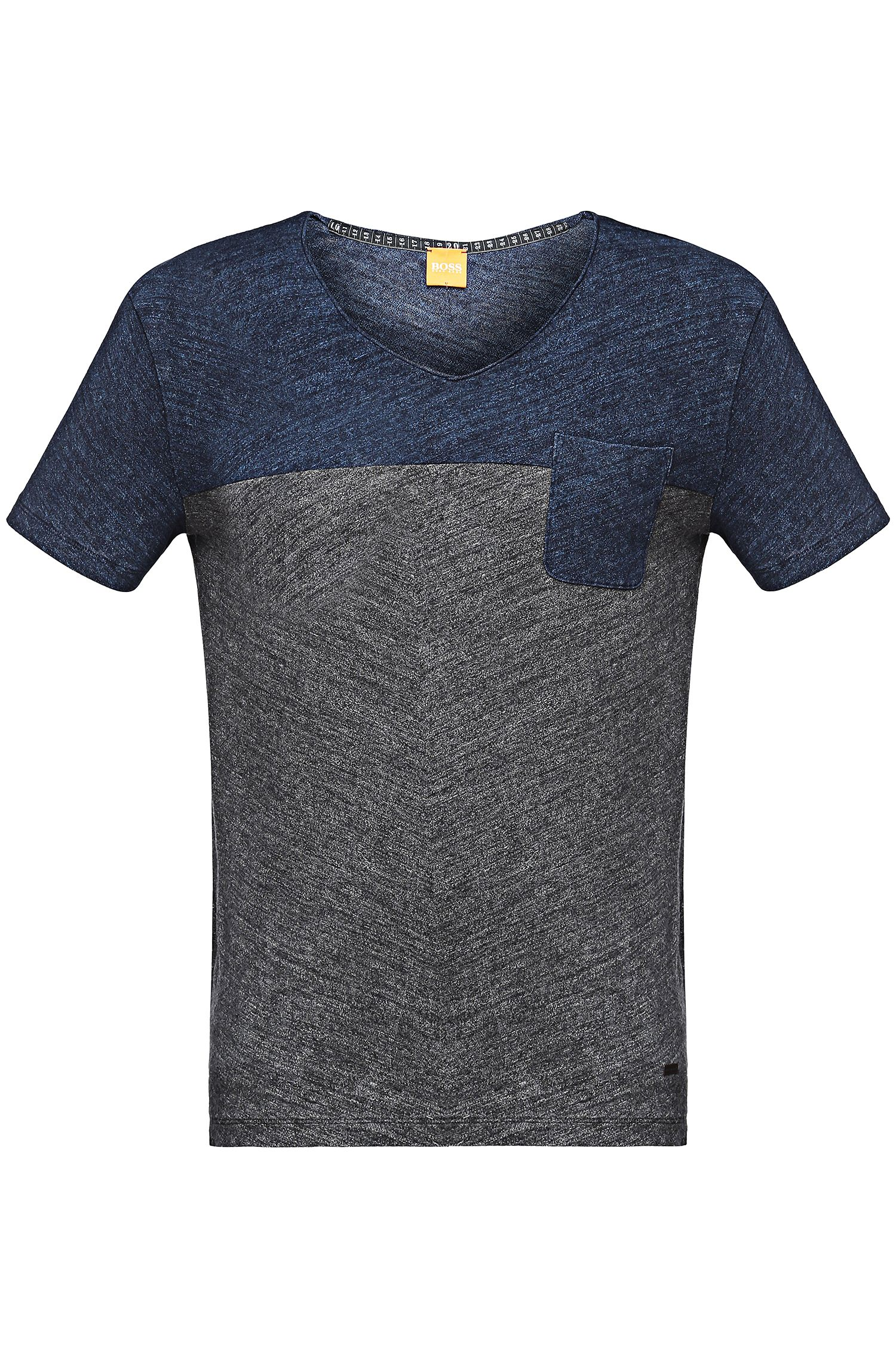 'Tedman' | Cotton Heather Colorblocked T-Shirt