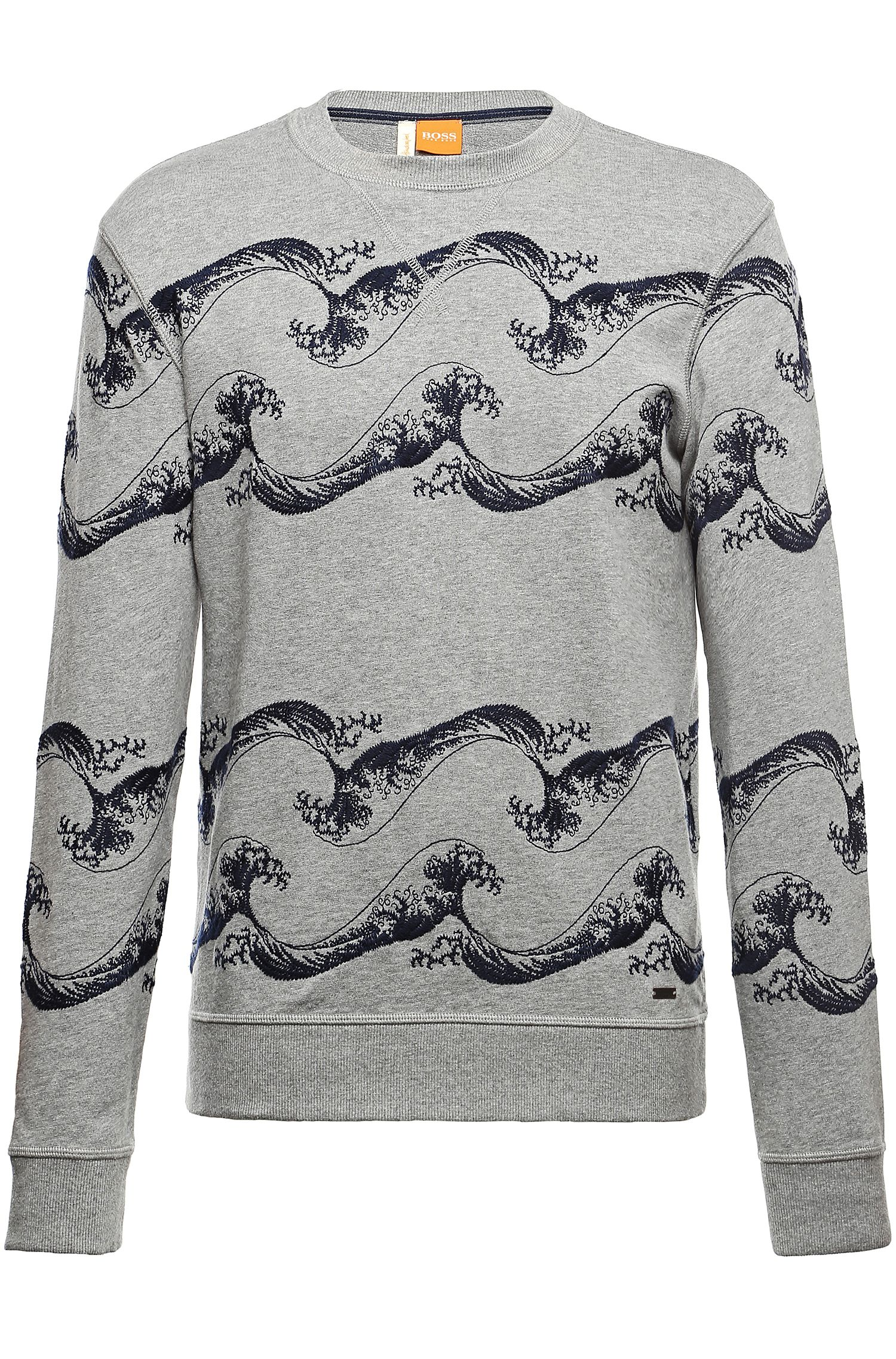 'Weatherbee-H' | Embroidered Cotton Sweatshirt
