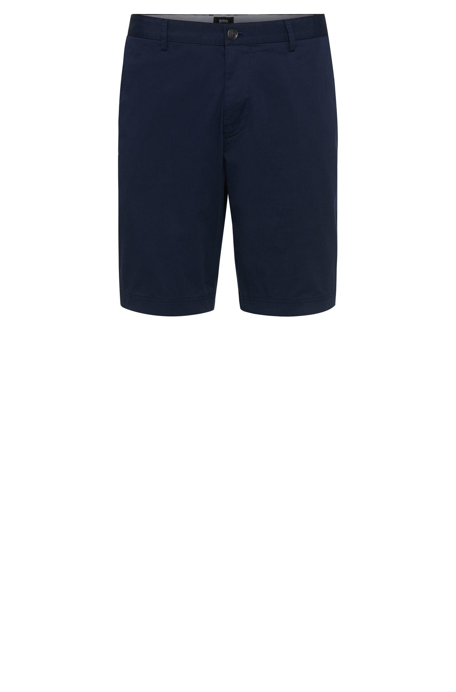 'Crigan-Short-W' | Regular Fit, Stretch Cotton Shorts