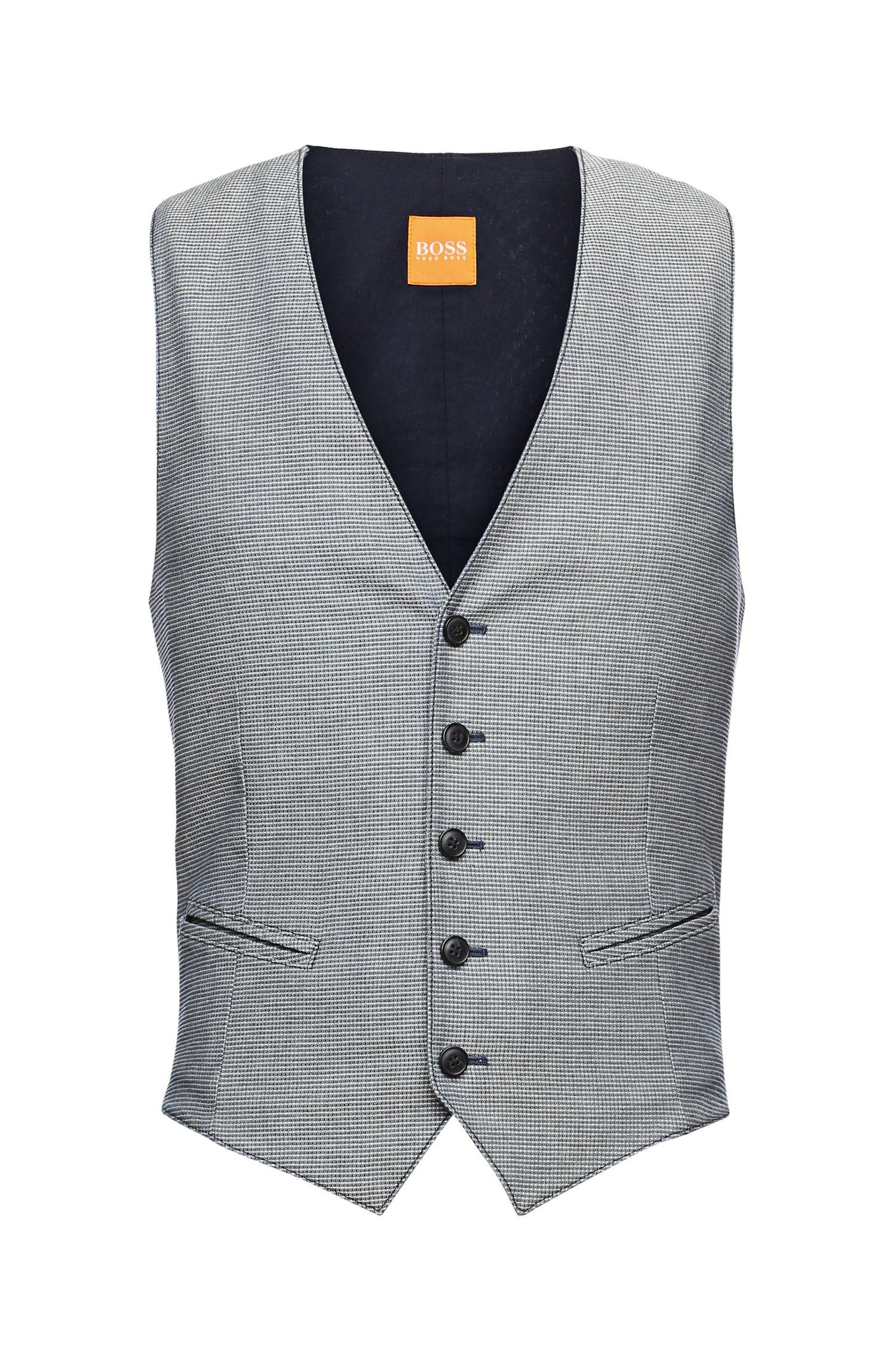 'Bozzy_BS-W'   Slim Fit, Cotton Contrast Vest