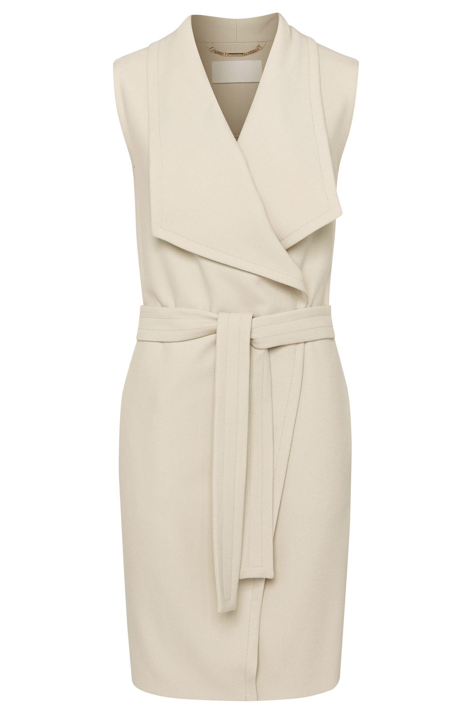 'Kalimi' | Stretch Crepe Belted Vest