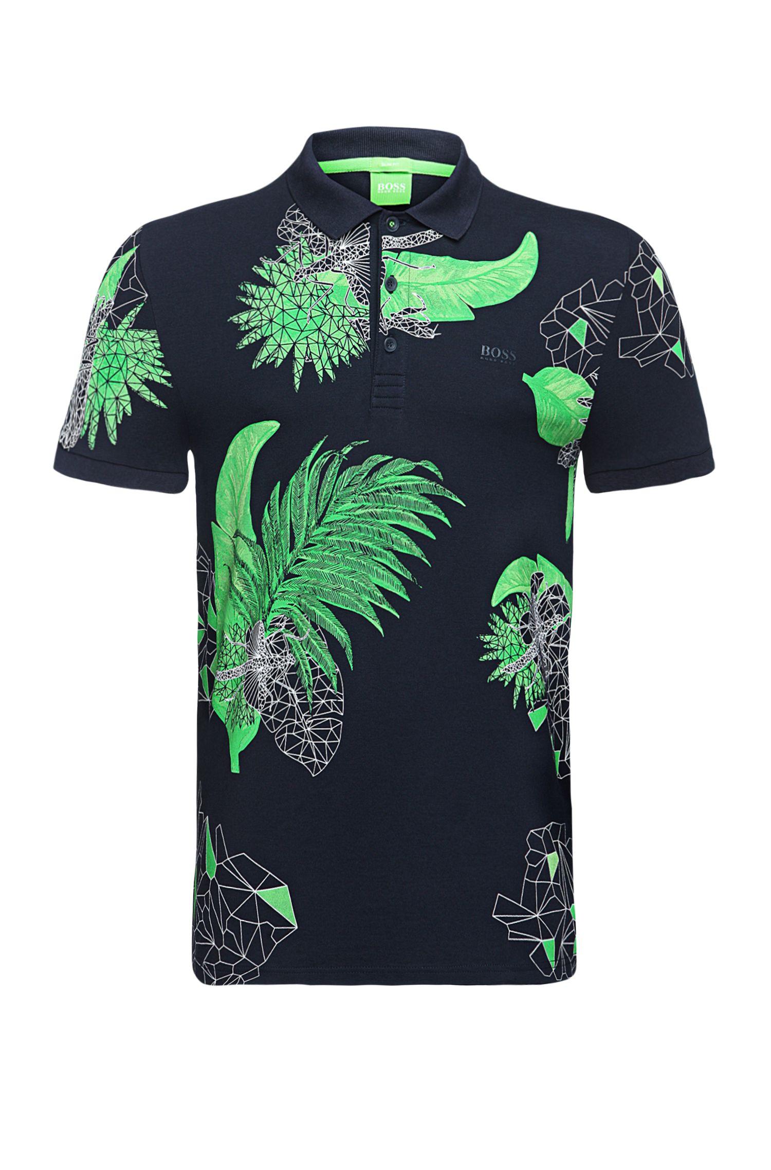 'Paule' | Slim Fit, Stretch Cotton Polo Shirt
