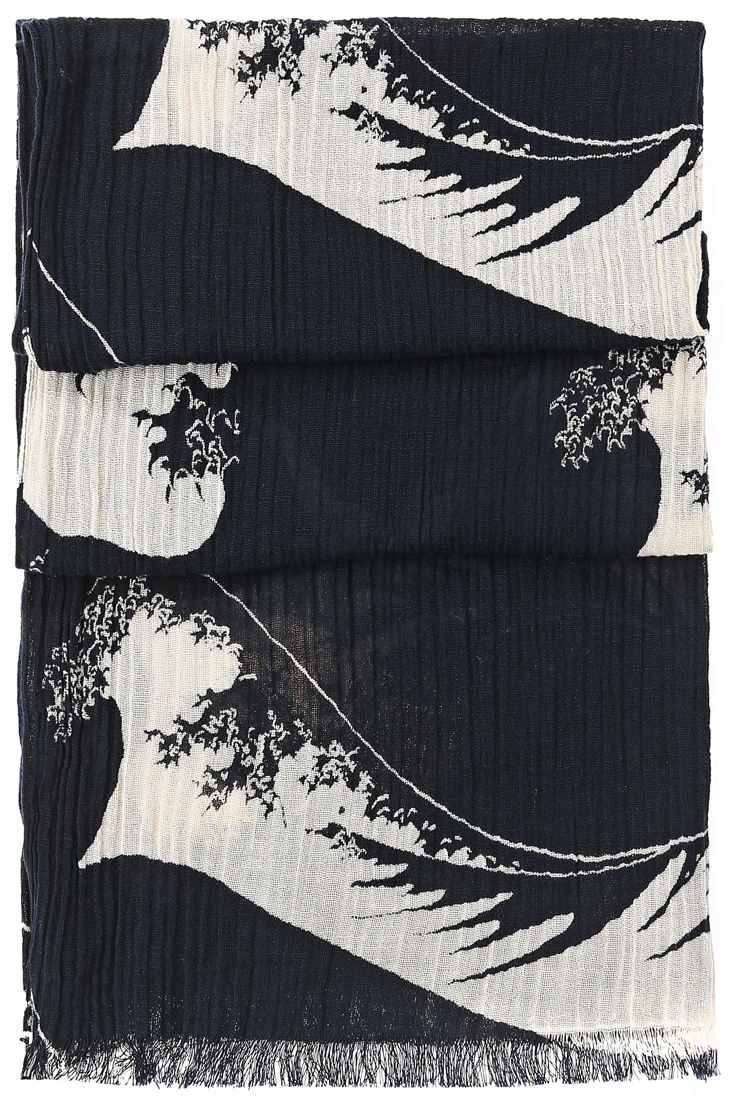 'Nautilus' | Cotton Wave Crinkled Scarf