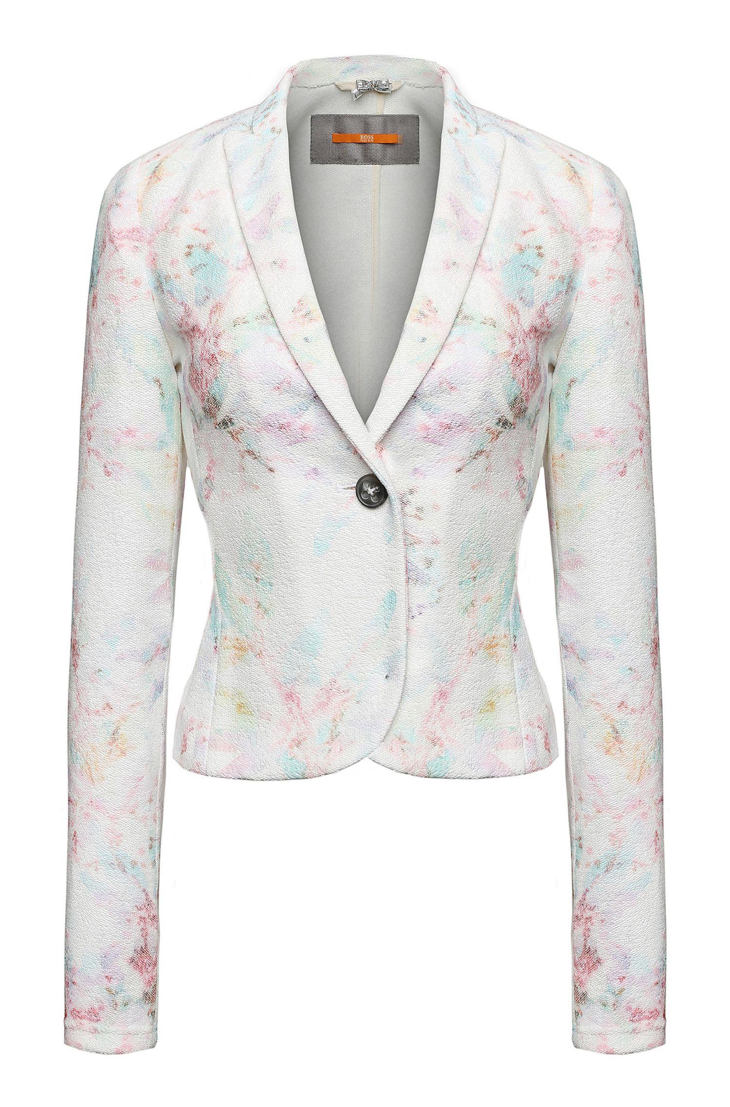 'Oterry'   Cotton Blend Terry Floral Blazer