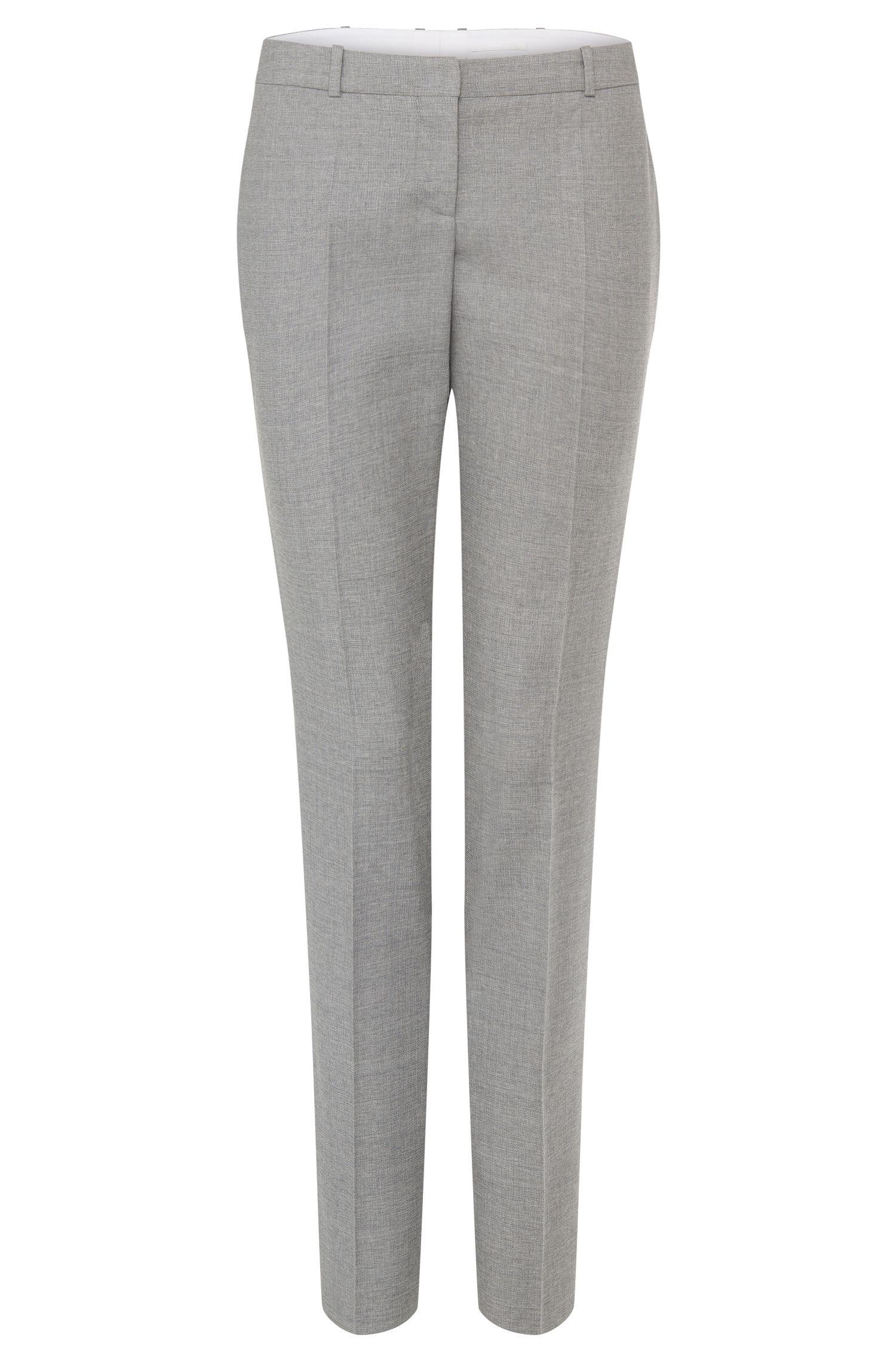 'Tiluni' | Virgin Woll Micro-Texutre Dress Pants