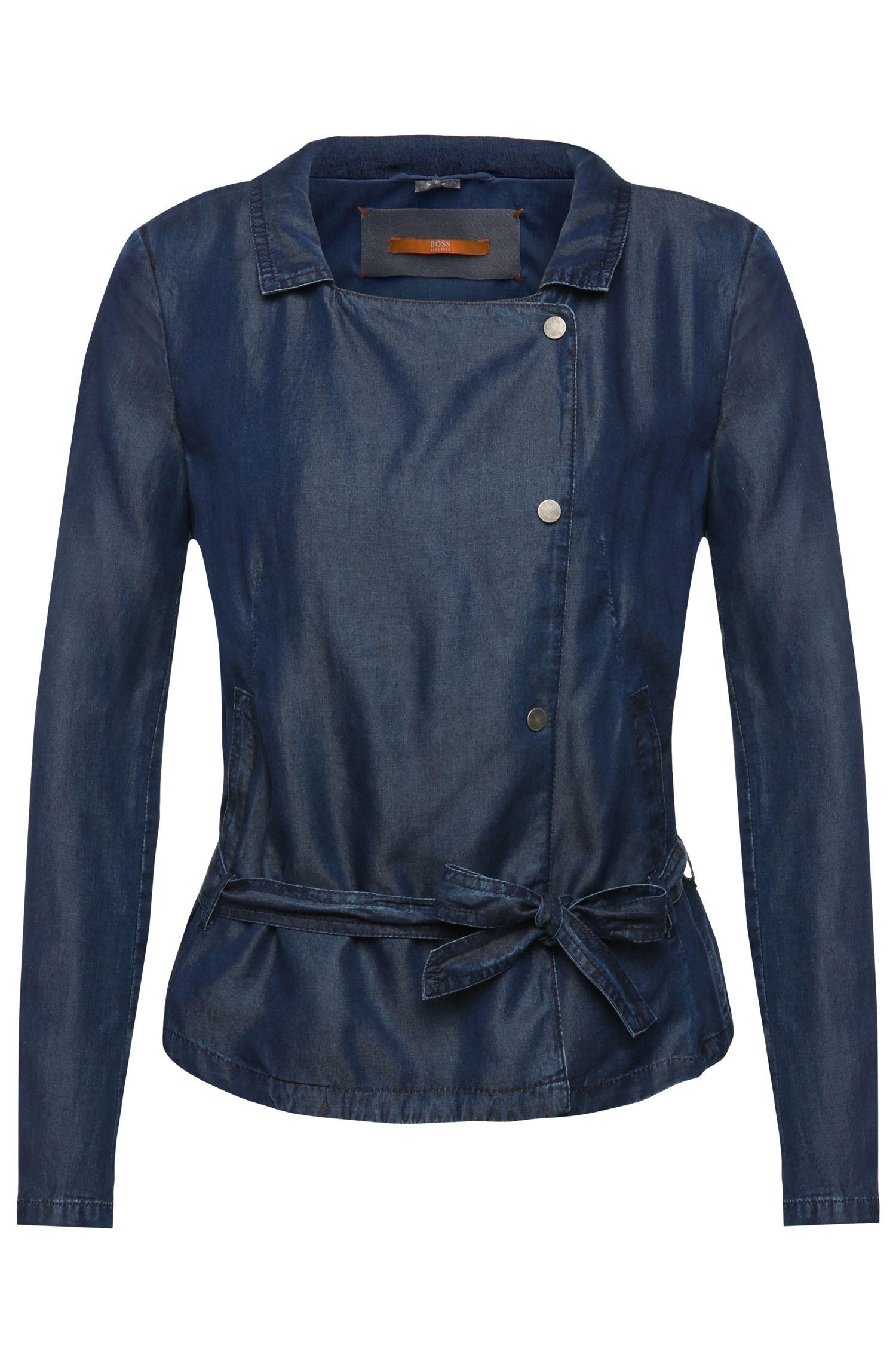 'Onody-W'   Lyocell Asymmetrical Belted Jacket
