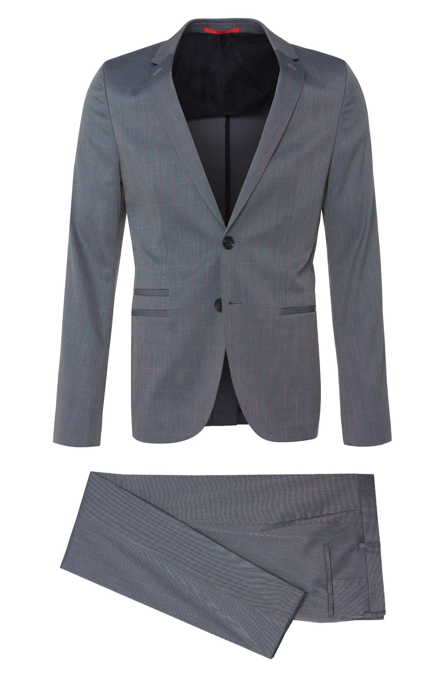 'Arlid/Herlin'   Slim Fit, Stretch Cotton Blend Windowpane Suit