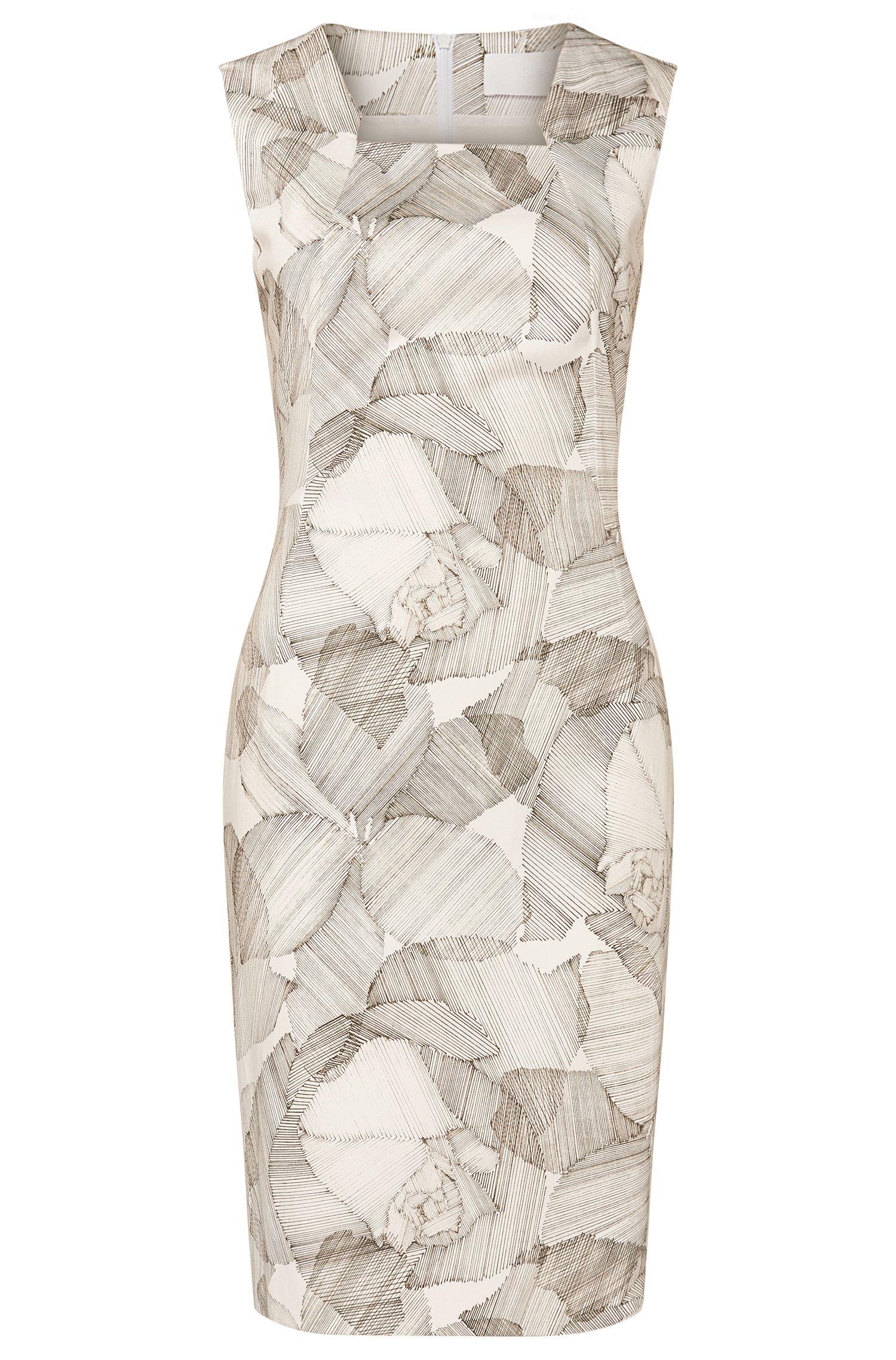'Dokysina'   Stretch Cotton Sheath Dress