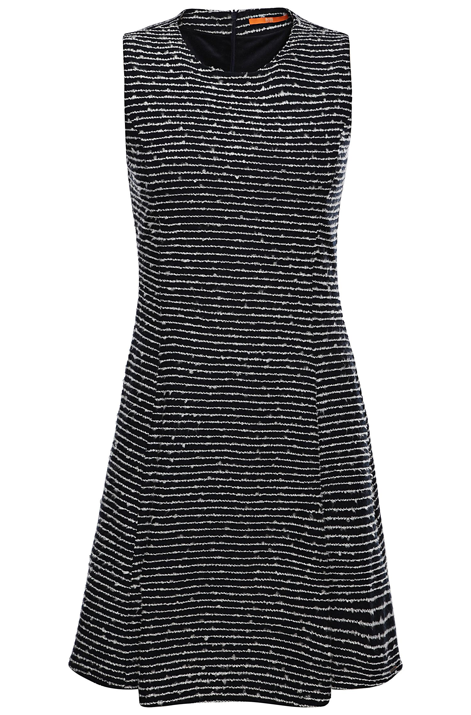 'Dicoco' | Stretch Cotton Embroidered A-Line Dress