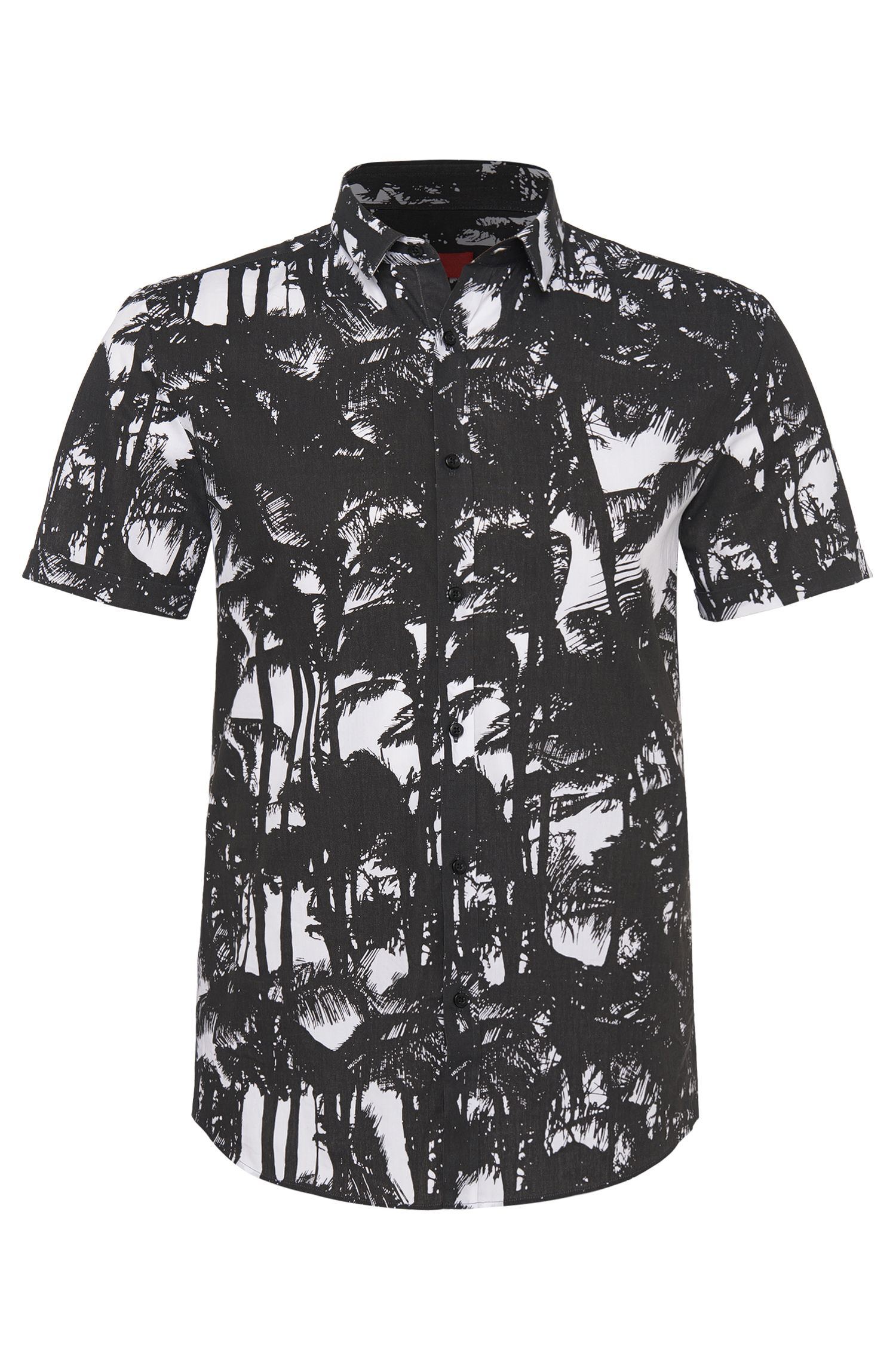 'Empson' | Slim Fit, Cotton Printed Button Down Shirt