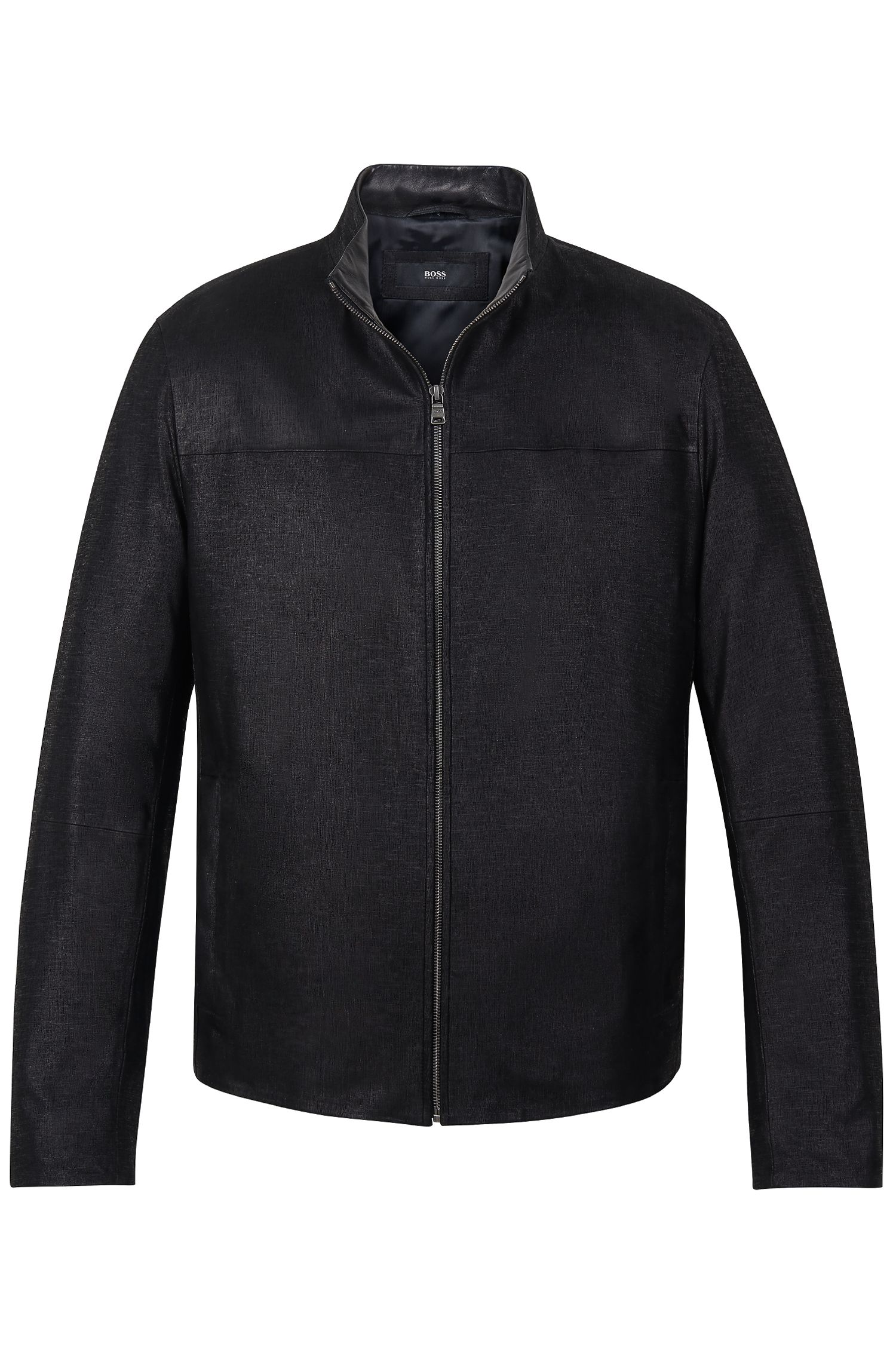 'Dalmin' | Sheepskin Leather Printed Jacket