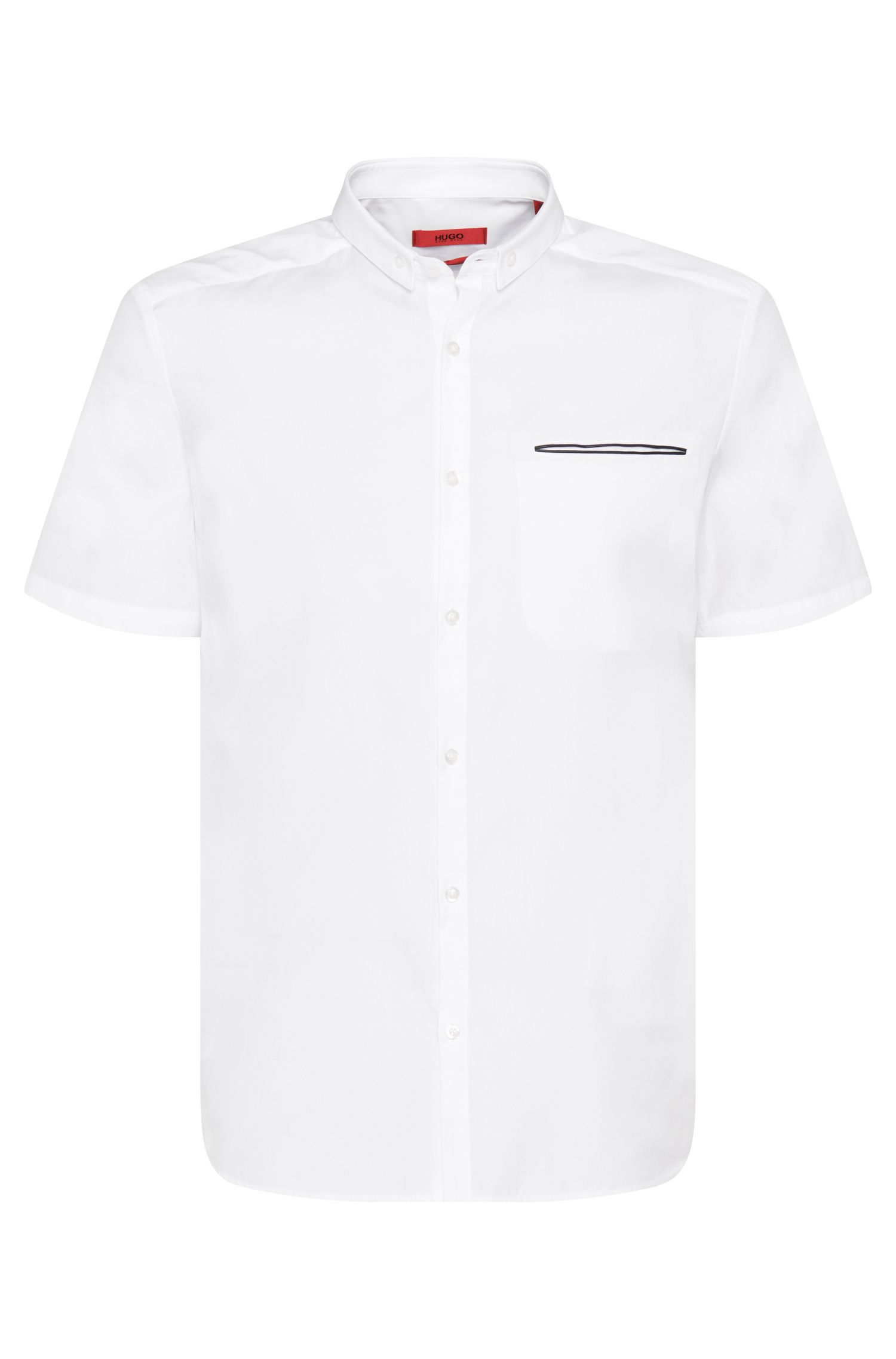 'Elpasolo' | Slim Fit, Cotton Button Down Shirt
