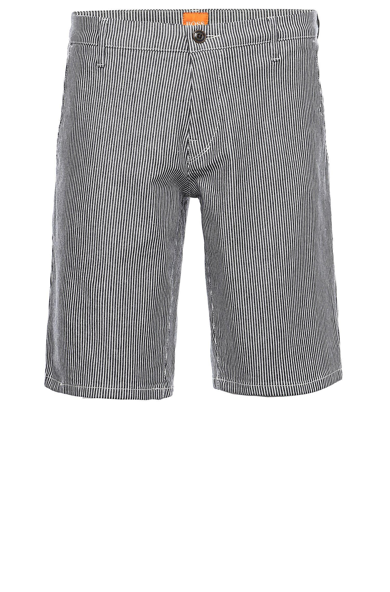 'Sairy-Shorts-W' | Slim Fit, Stretch Cotton Shorts