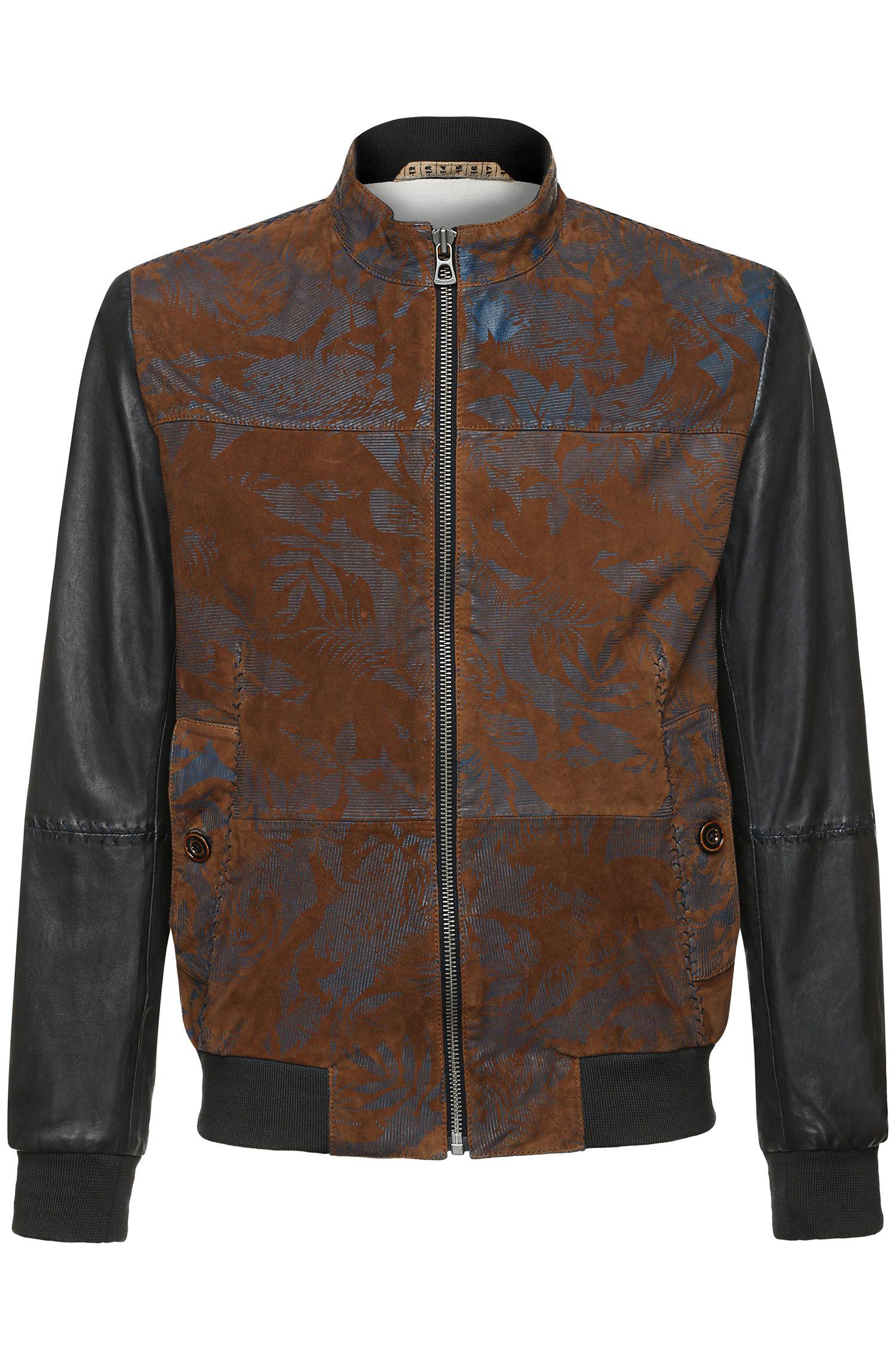'Jalboa_H' | Goat Suede, Leather Bomber Jacket