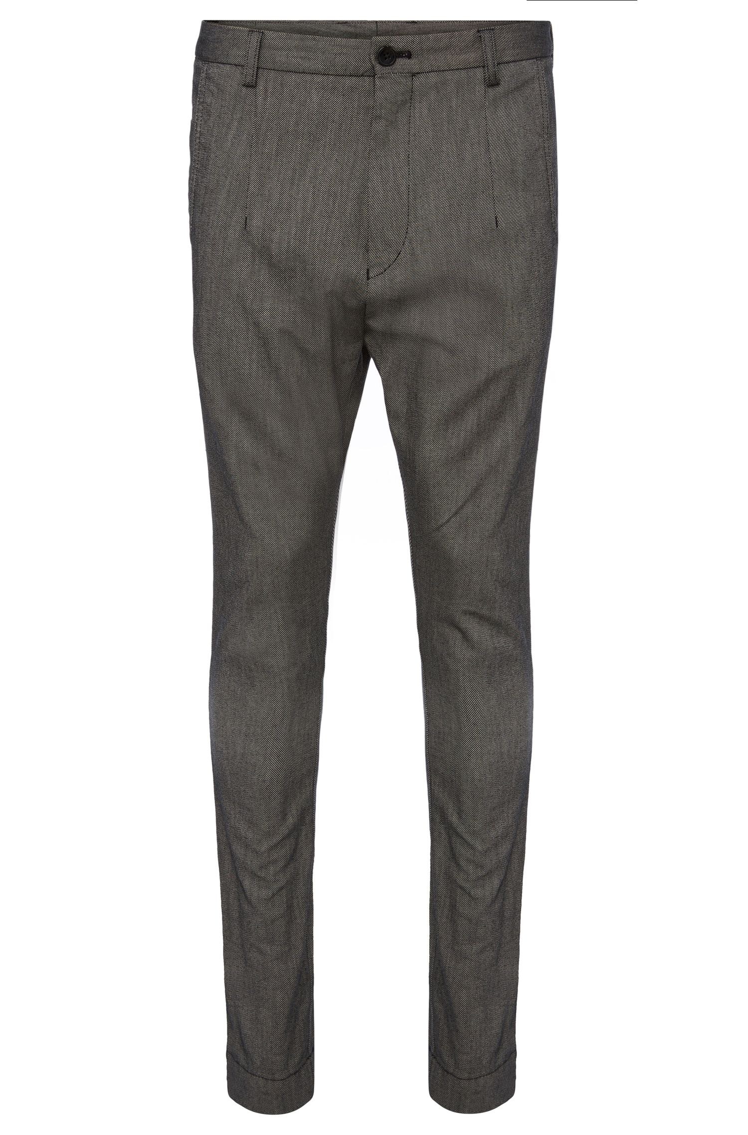 'Hedyn-W' | Regular Fit Tapered, Cotton Pants