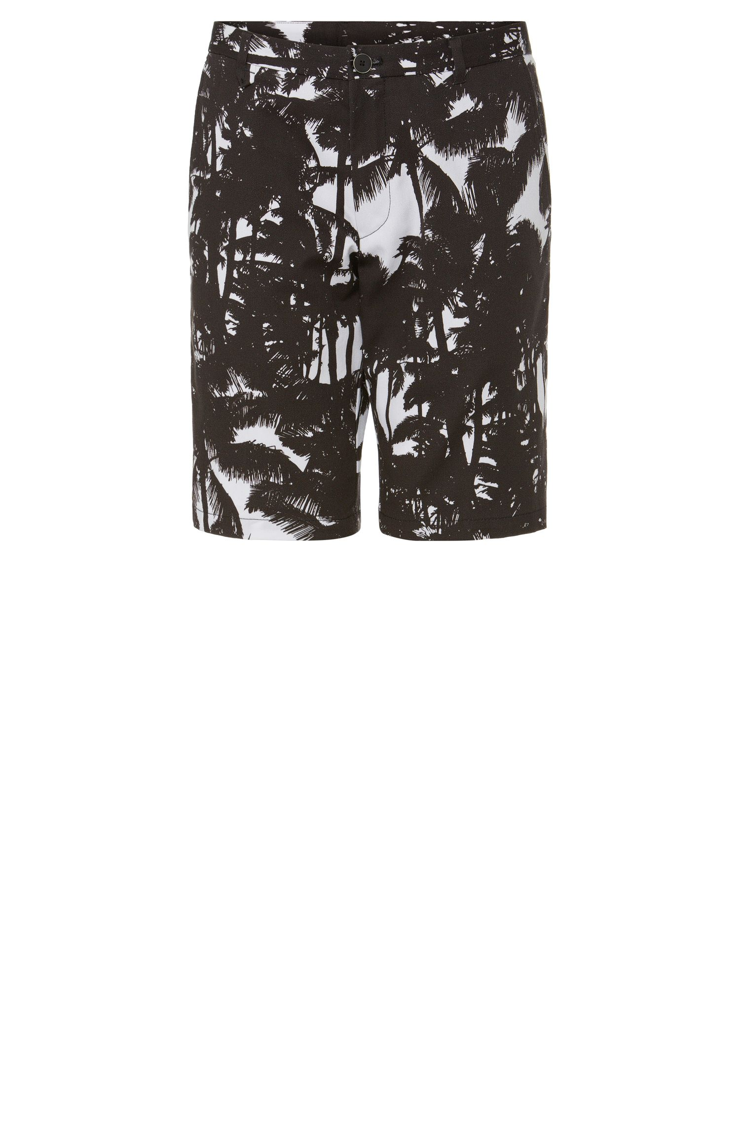 'Hano' | Slim Fit, Cotton Printed Shorts