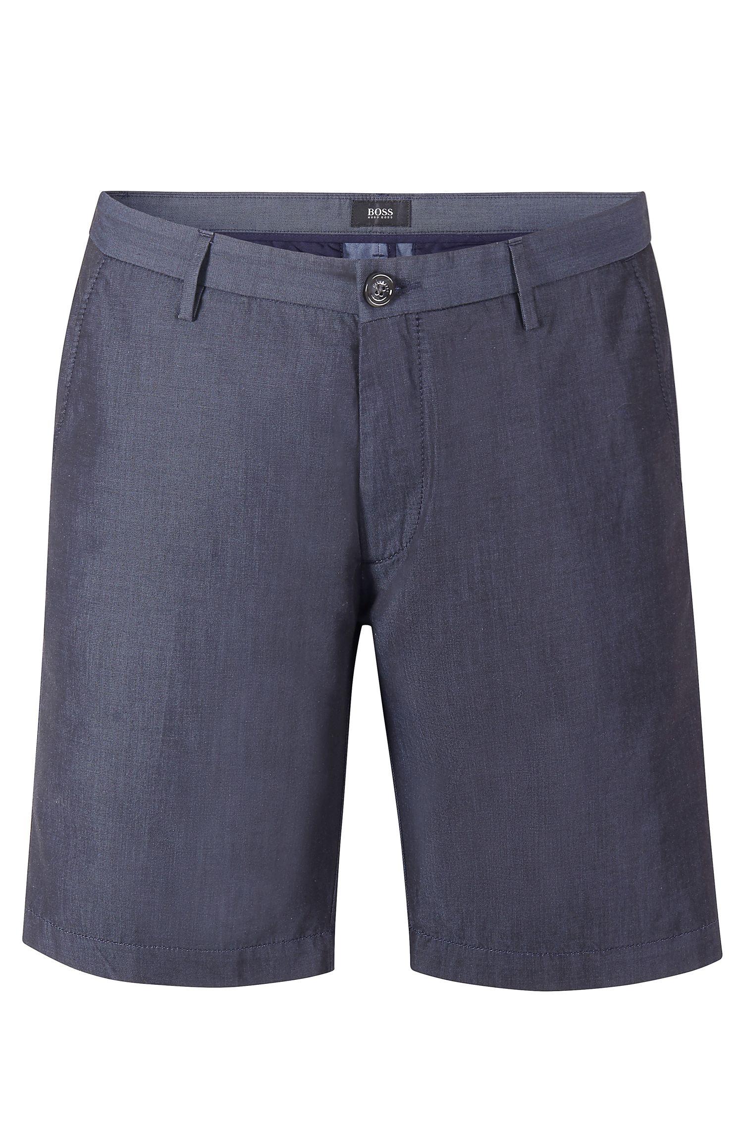 'RiceShort-W' | Slim Fit, Cotton Chambray Shorts