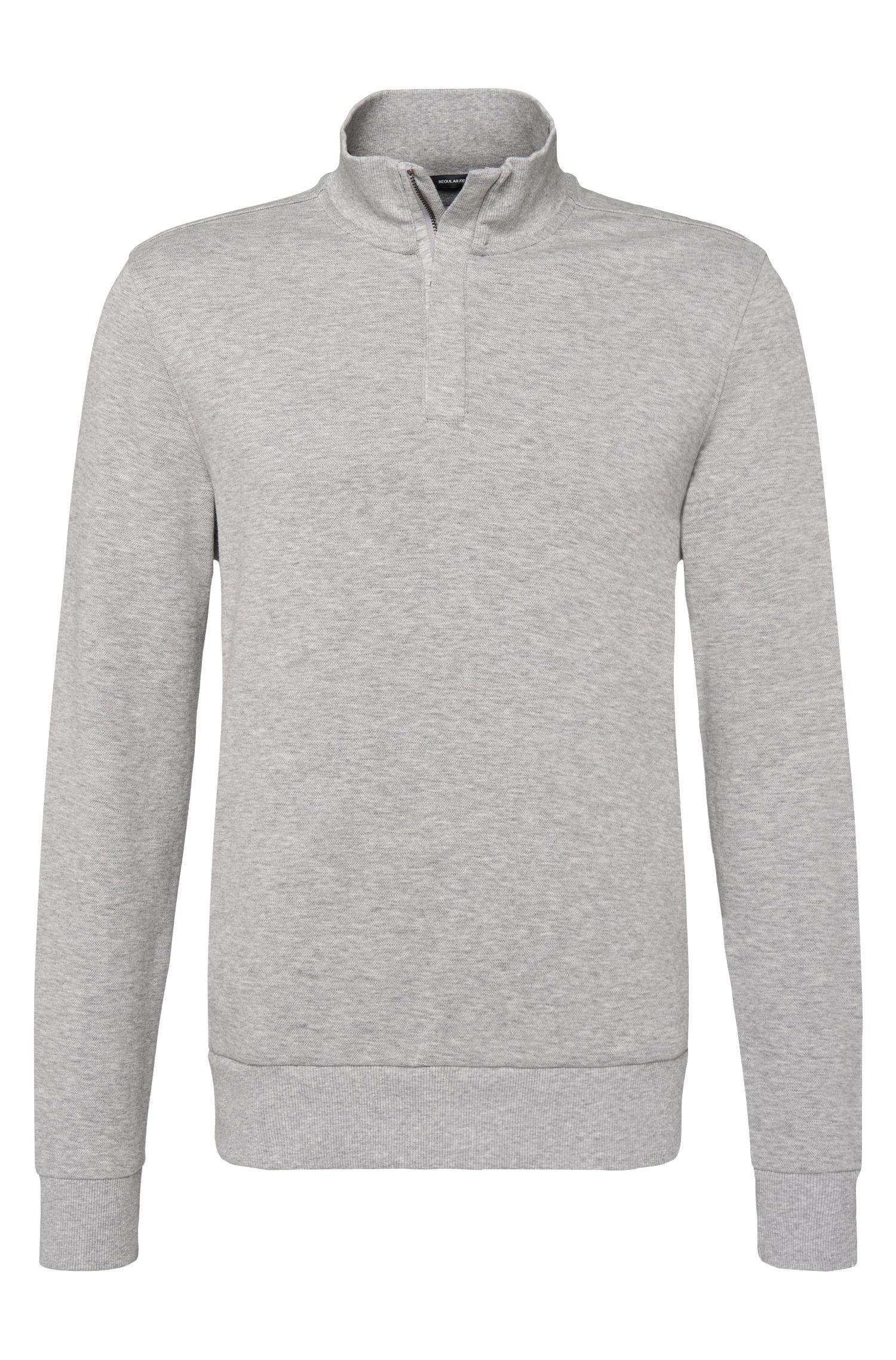 'Sidney' | Cotton Blend Pique Sweatshirt