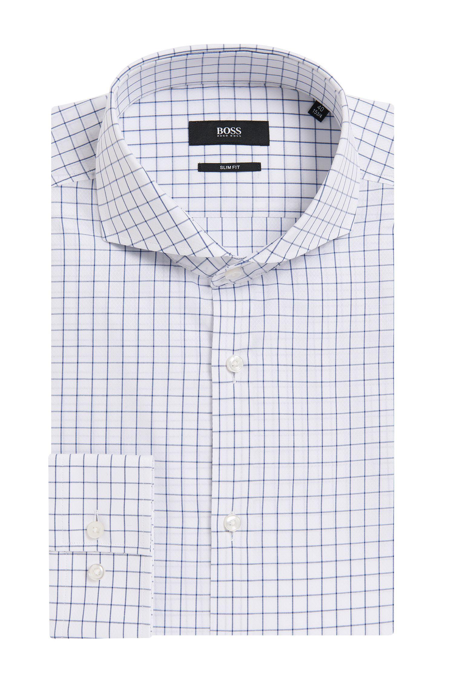 'Dwayne' | Slim Fit, Italian Cotton Textured Dress Shirt