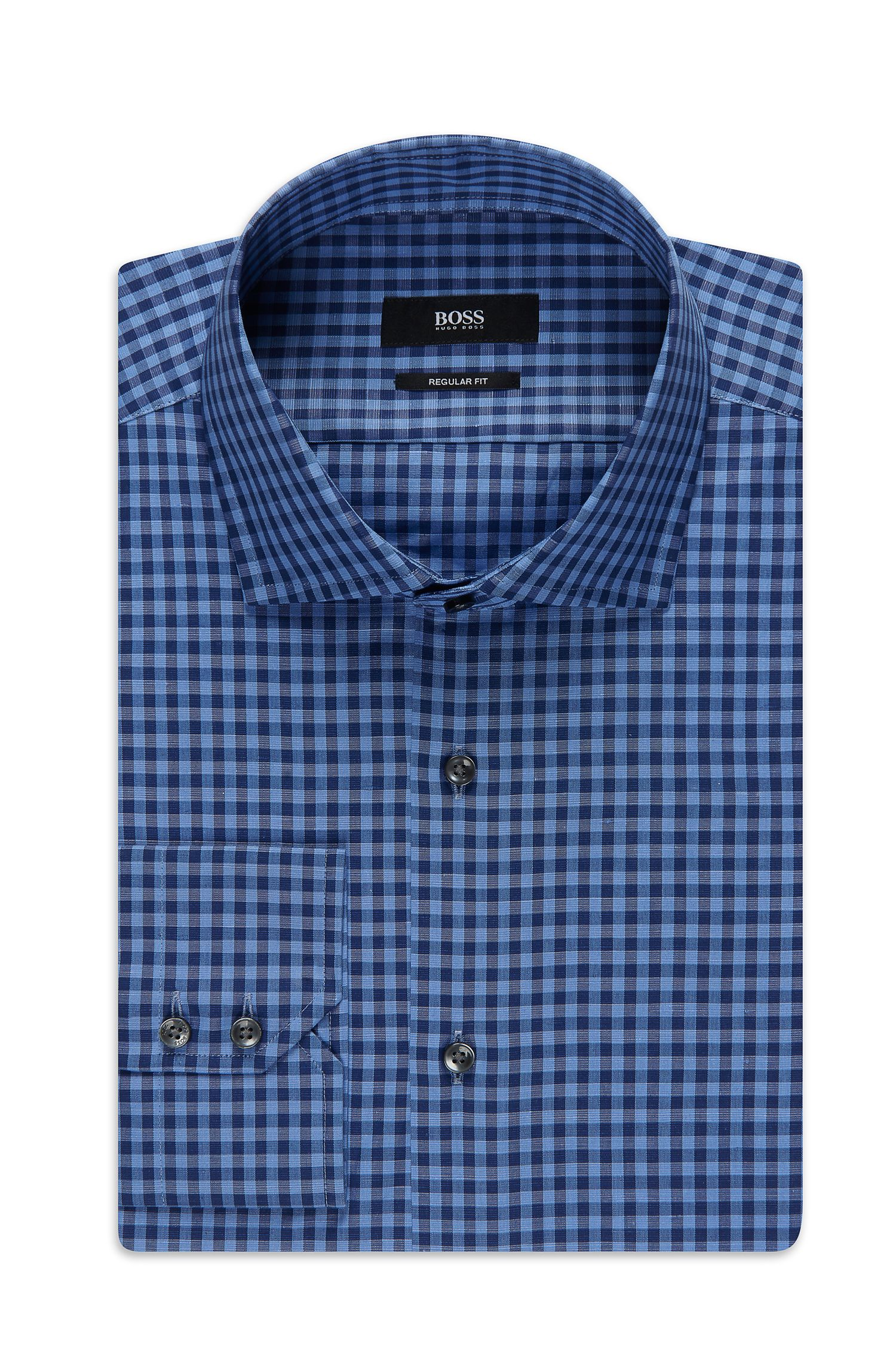 'Gordon' | Regular Fit, Cotton Linen Dress Shirt