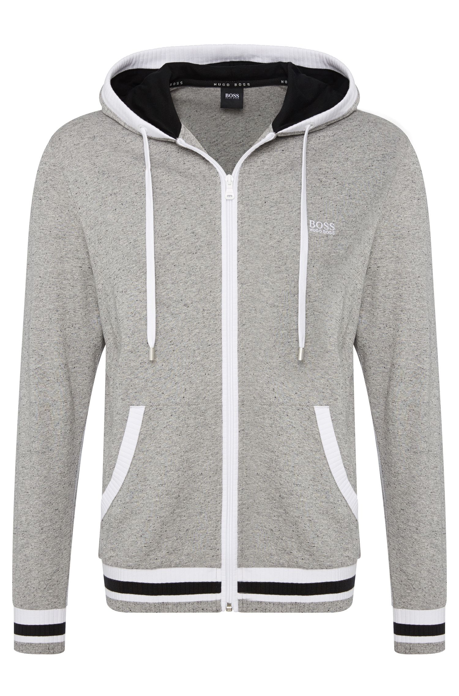 'Jacket Hooded' | Brushed Cotton Varsity Hooded Jacket