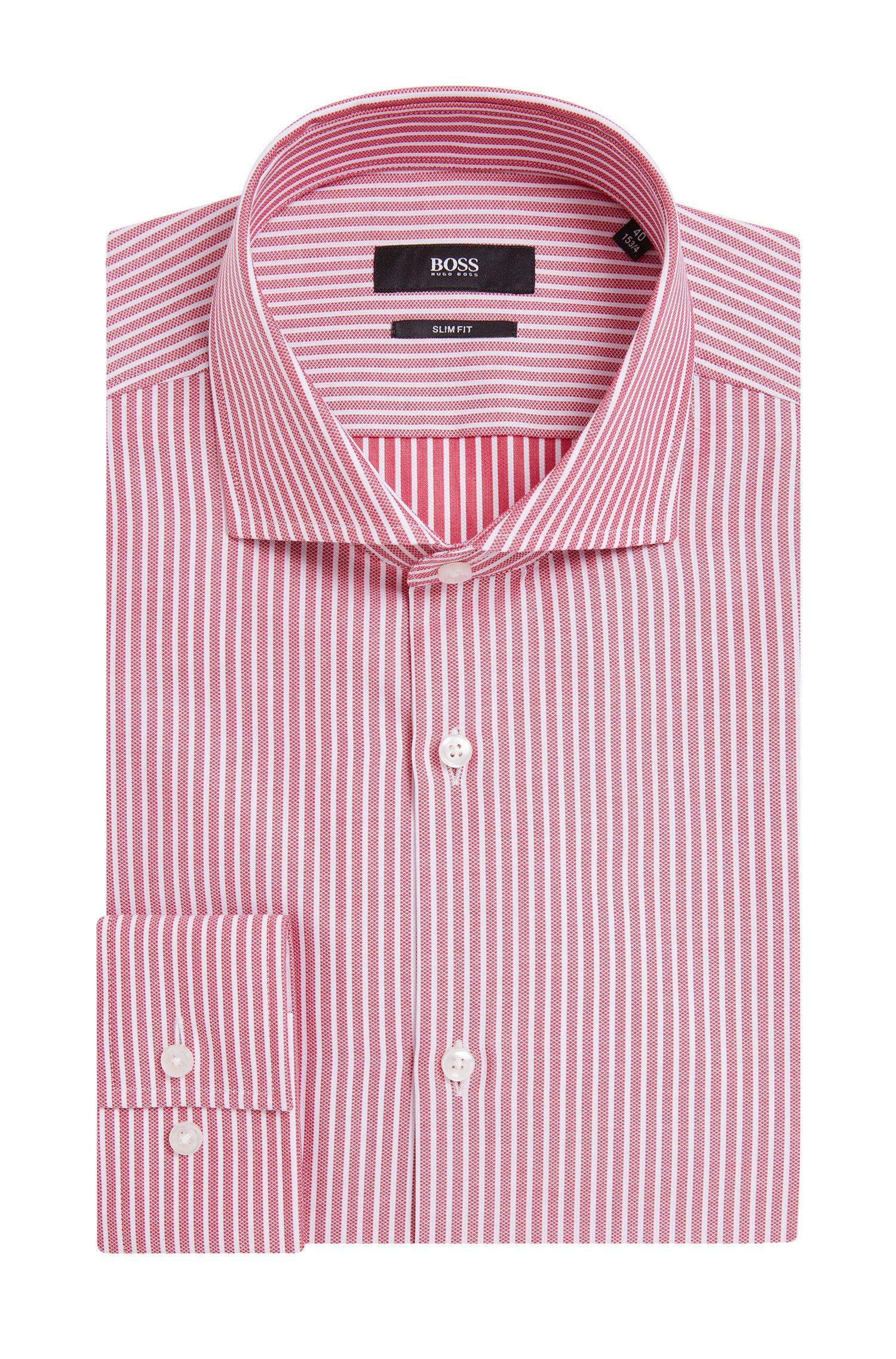 'Jason' | Slim Fit, Spread Collar Cotton Dress Shirt