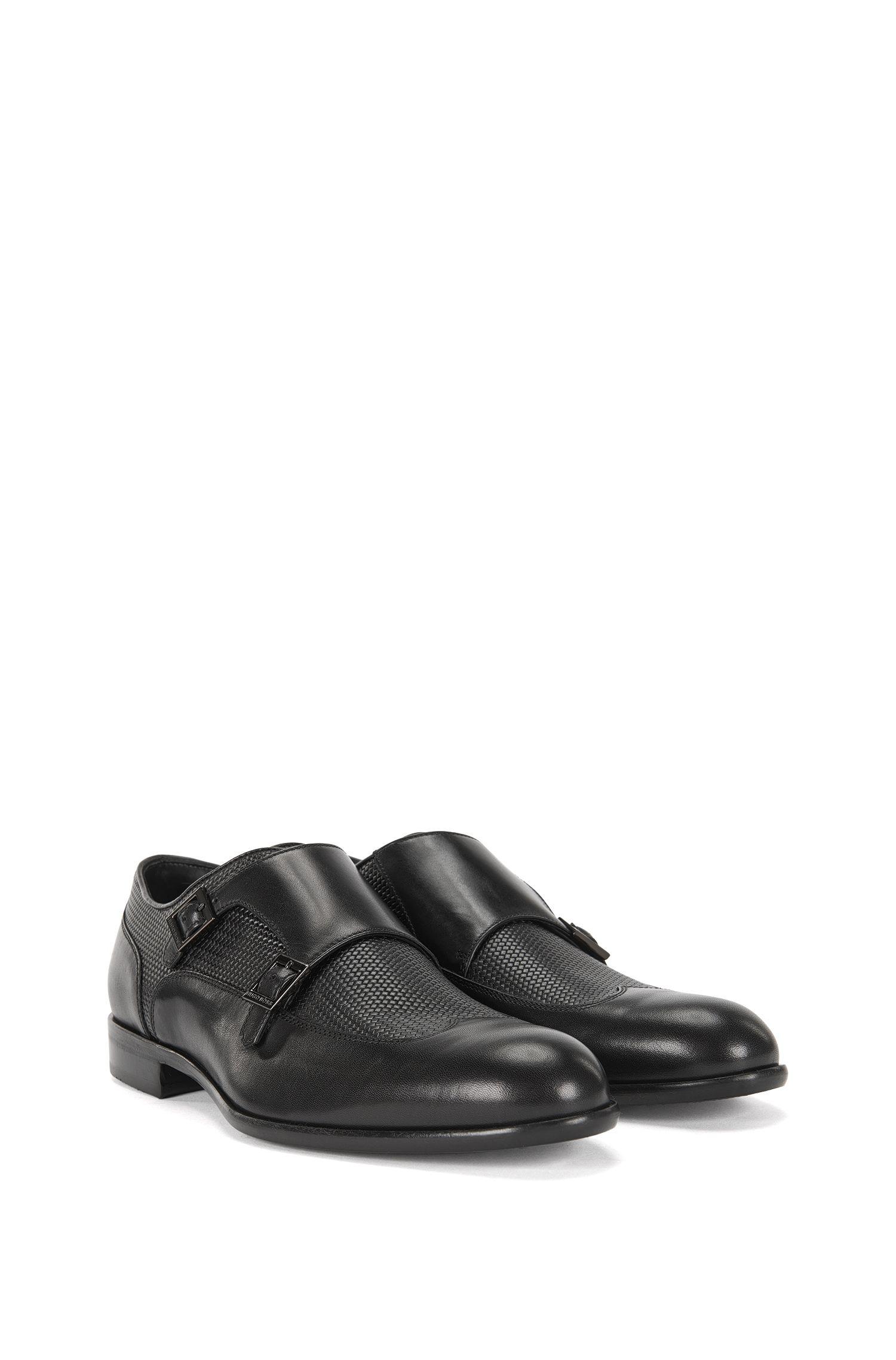 'Manmok' | Italian Calfskin Double Monk Strap Dress Shoes
