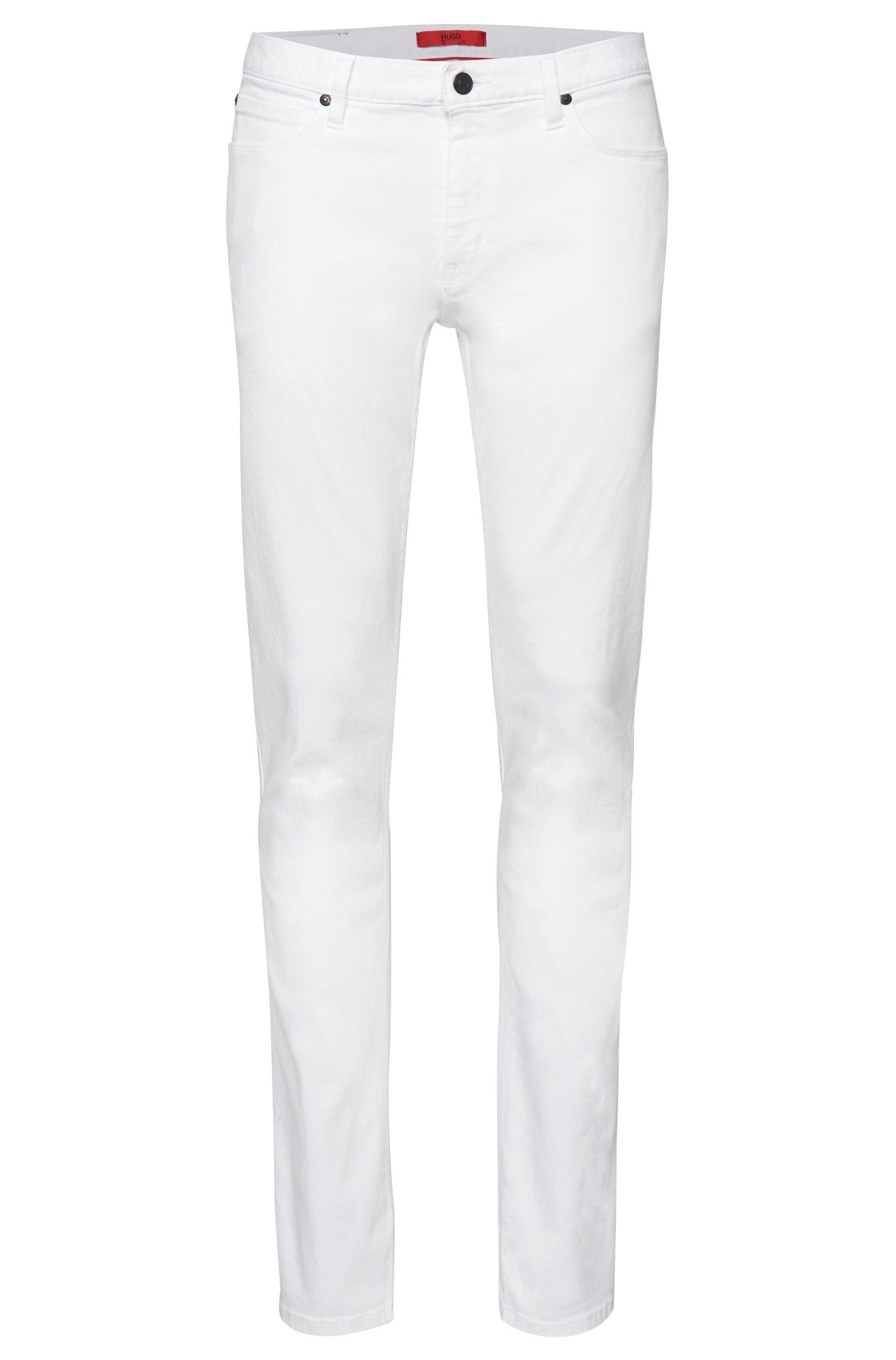'HUGO 708' | Slim Fit, 11.75 oz Stretch Cotton Jeans