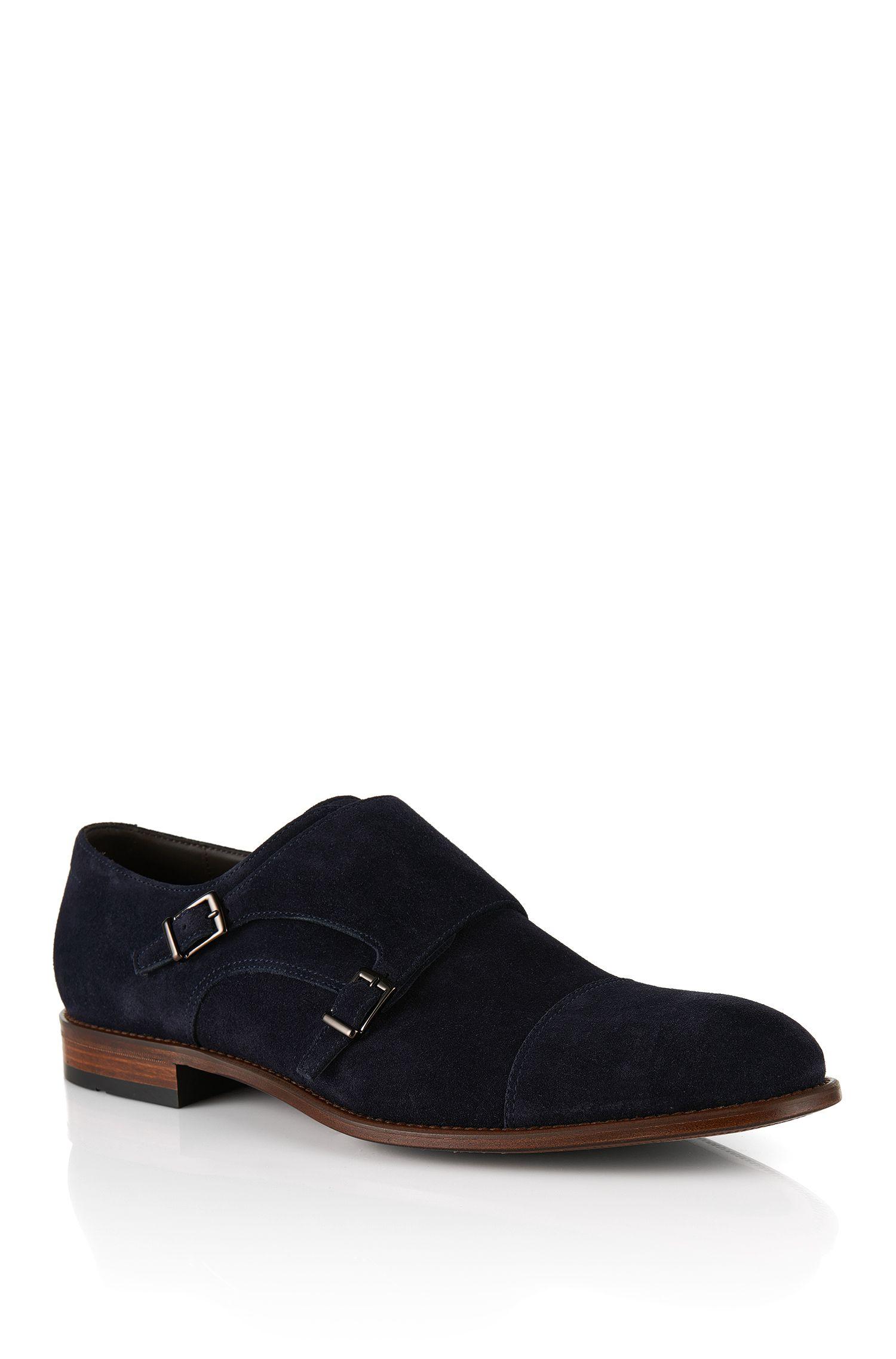 'Stomok' | Italian Suede Double Monk Strap Shoes