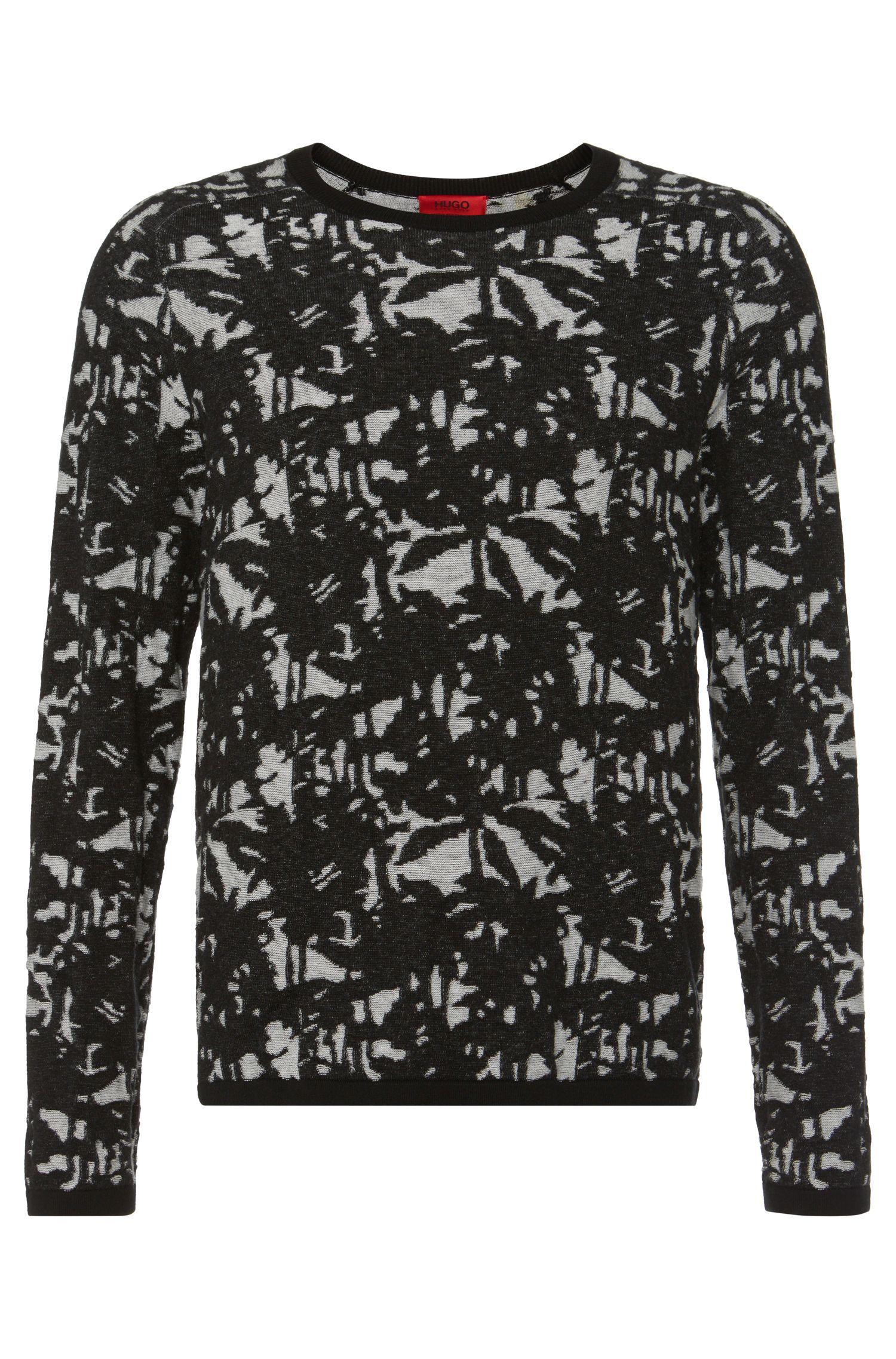 'Stree'   Cotton Silk Cashmere Jacquard Sweater