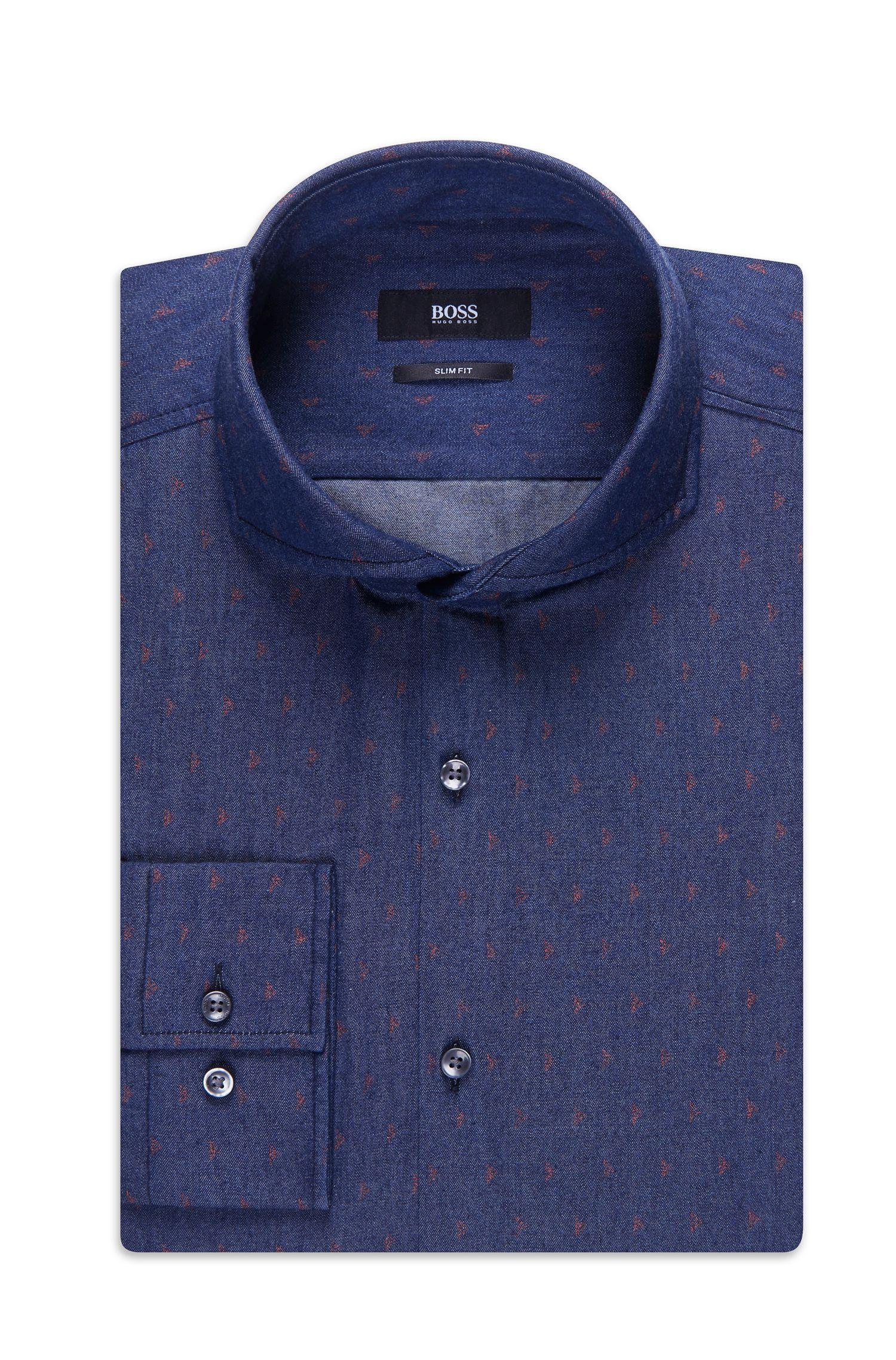 'Dwayne' | Slim Fit, Cotton Denim Dress Shirt