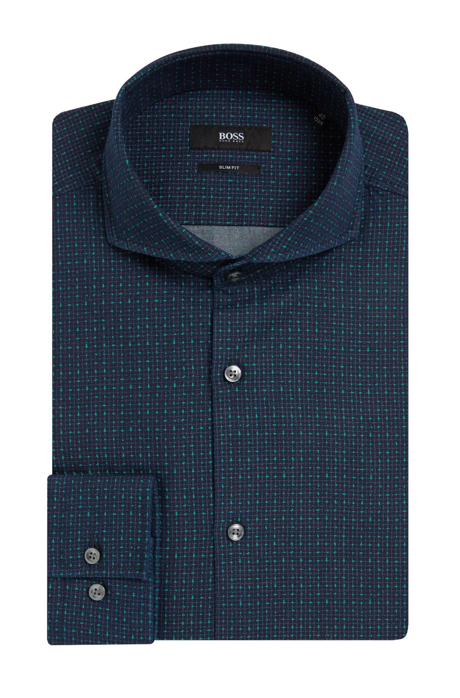 'Dwayne'   Slim Fit, Italian Cotton Dress Shirt