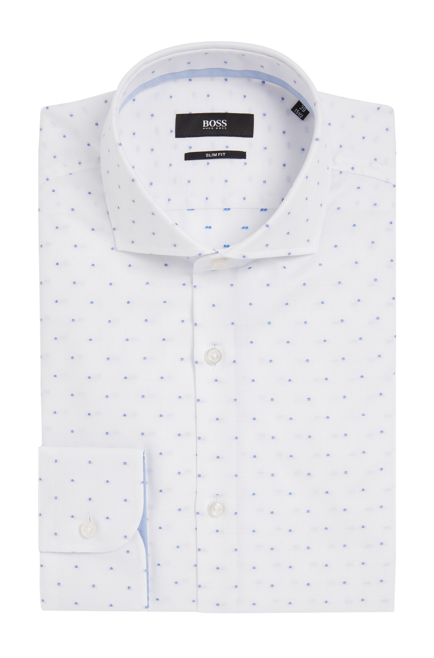 'Jery' | Slim Fit, Spread Collar Cotton Dress Shirt