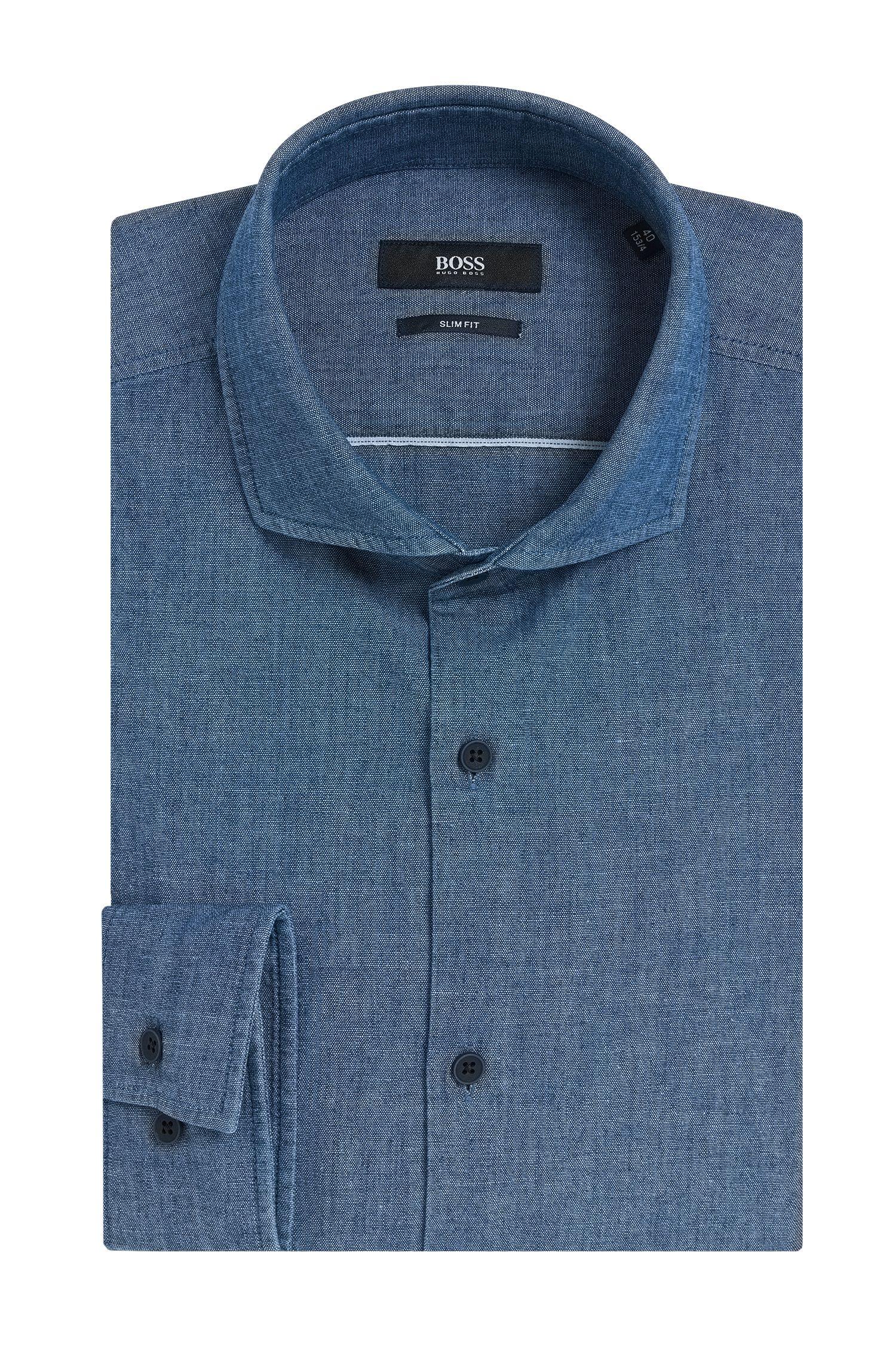 'Jason'   Slim Fit, Cotton Denim Dress Shirt